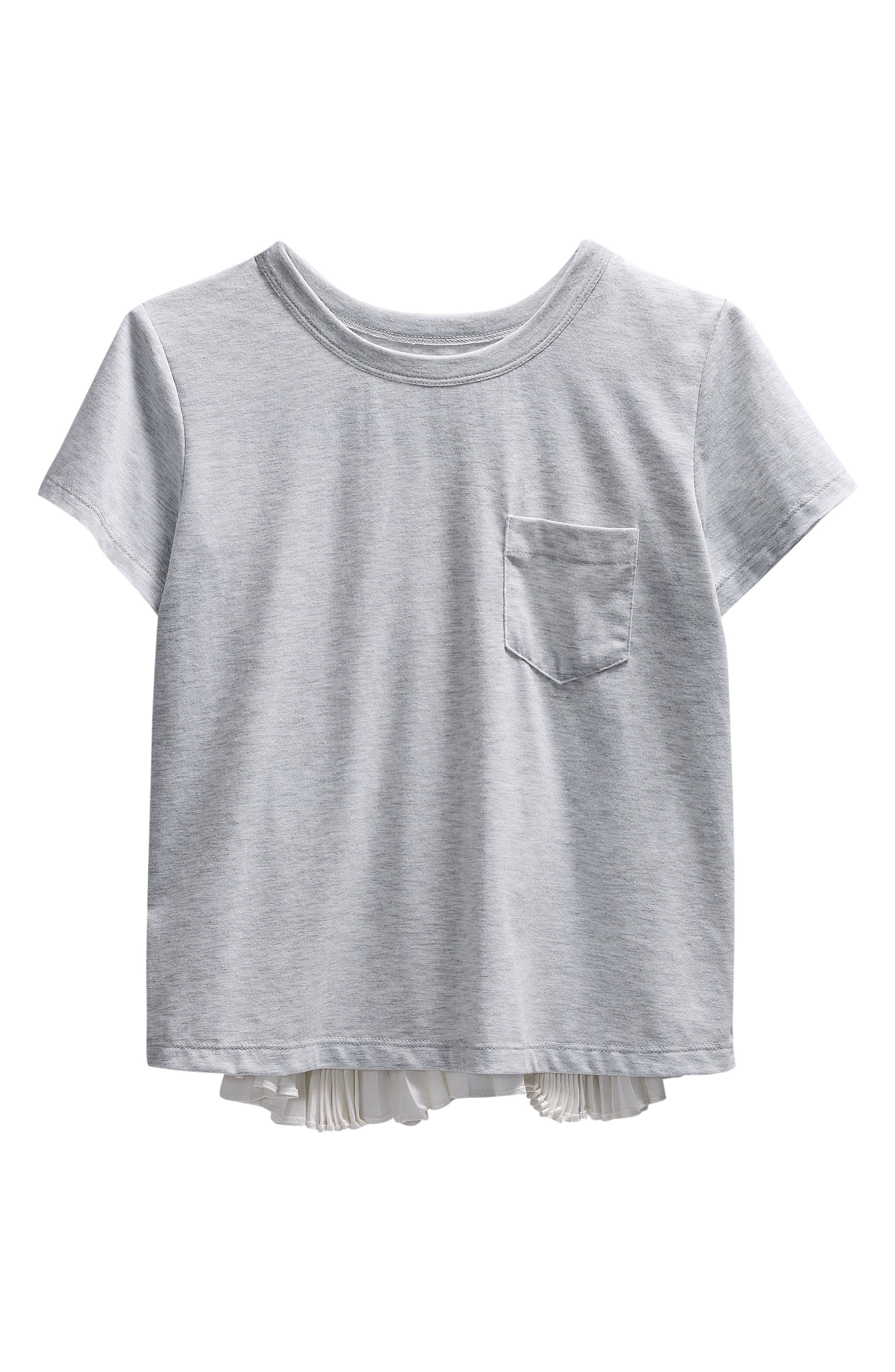 Maddie Pleated Short Sleeve Tee (Big Girls)