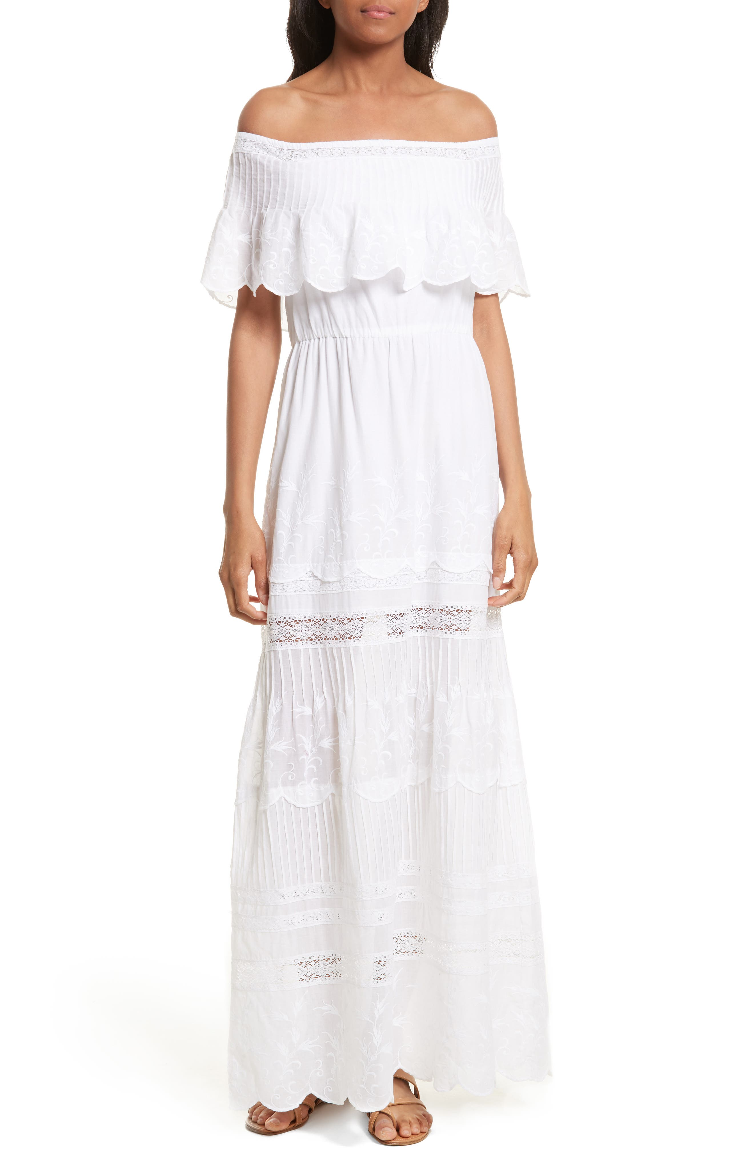 Main Image - Alice + Olivia Pansy Off the Shoulder Maxi Dress