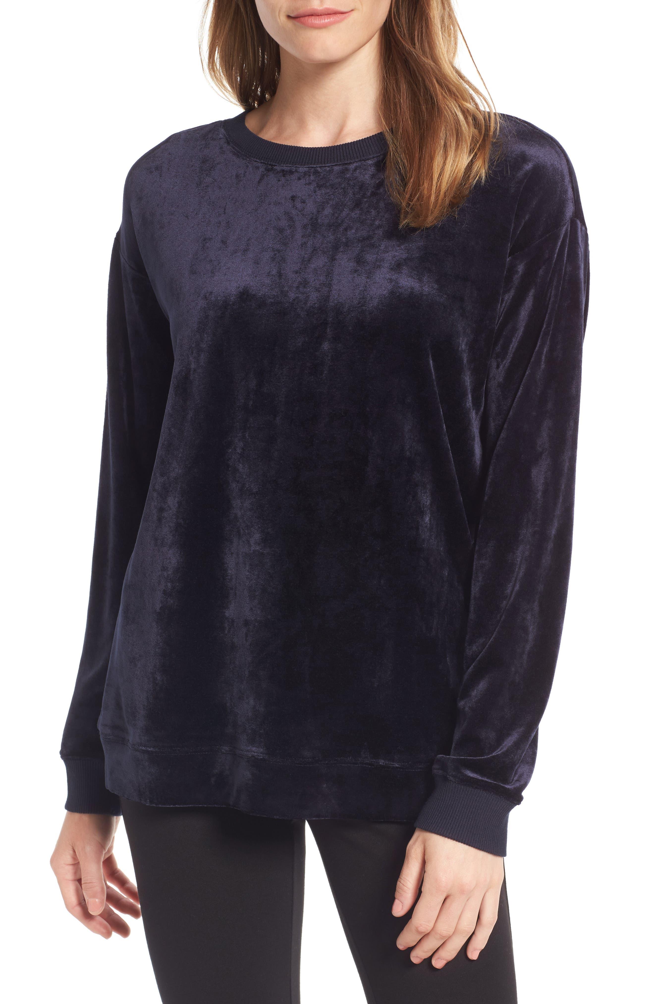 Nordstrom Signature Velvet Sweatshirt
