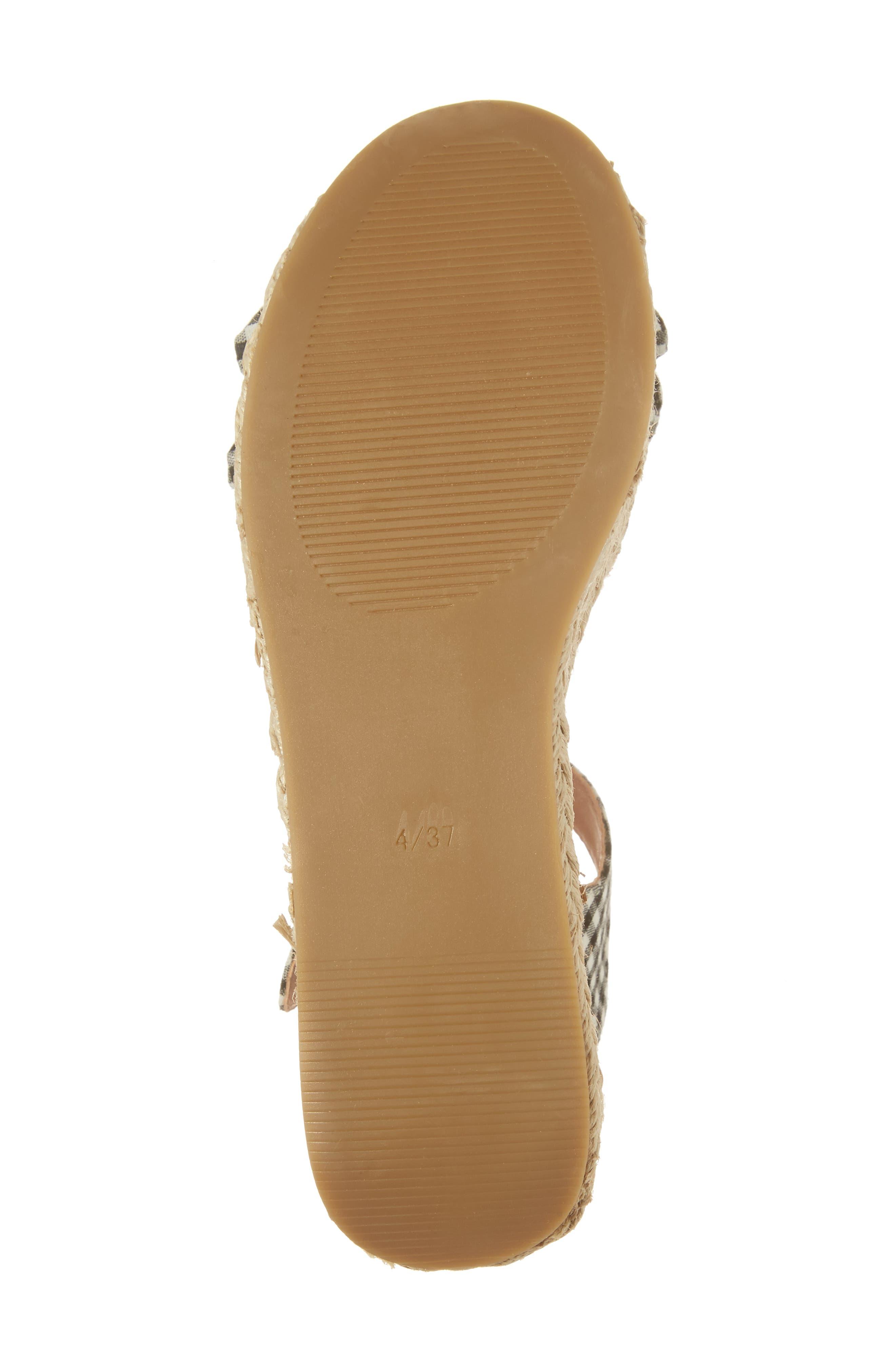 Alternate Image 6  - Topshop Wendy Gingham Platform Sandal (Women)