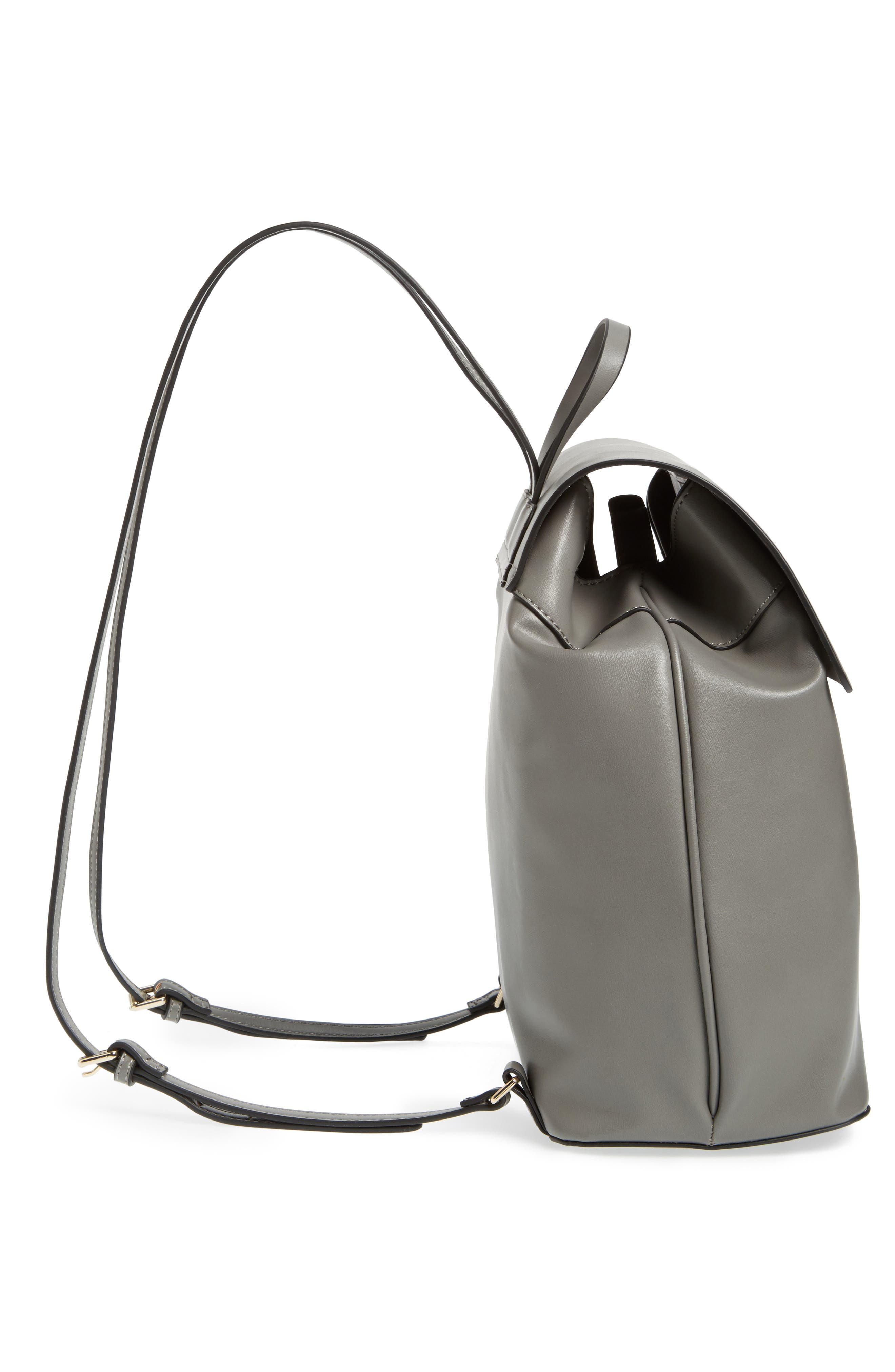 Alternate Image 5  - Topshop Barnet Faux Leather Backpack