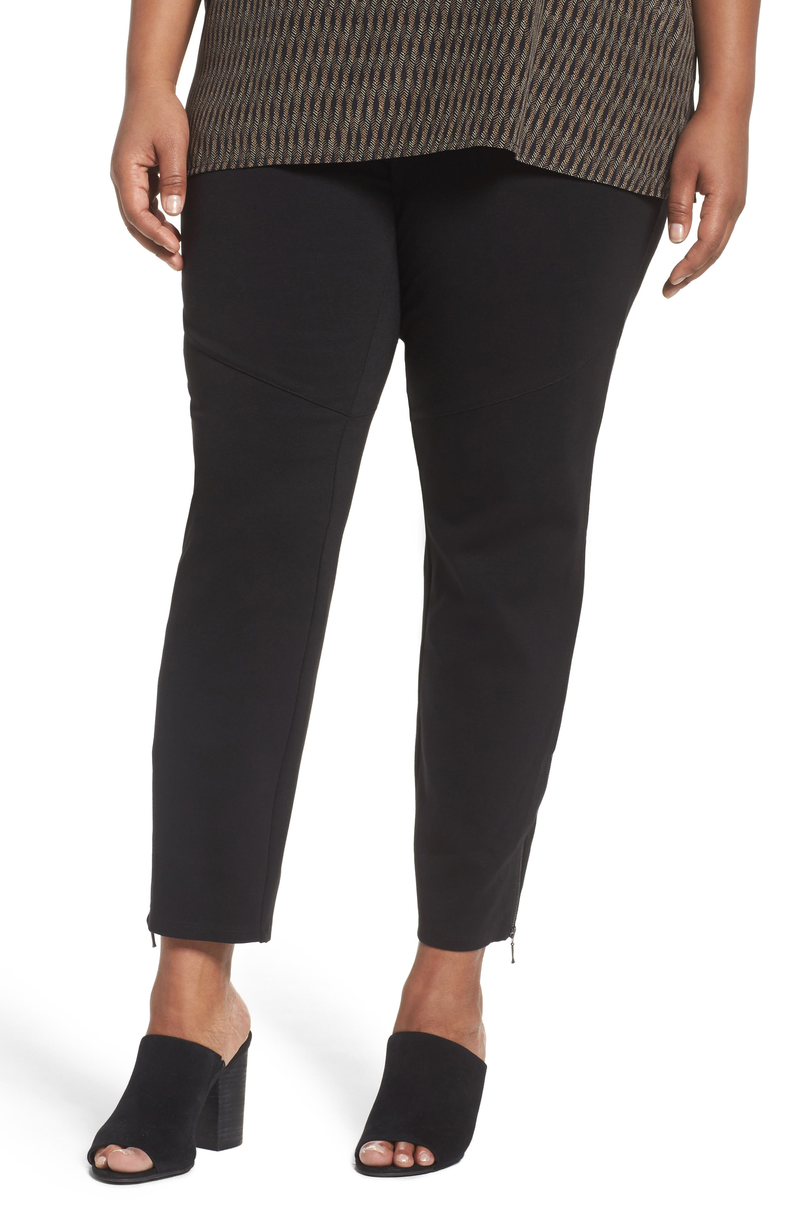 Eilen Fisher Moto Pants (Plus Size)