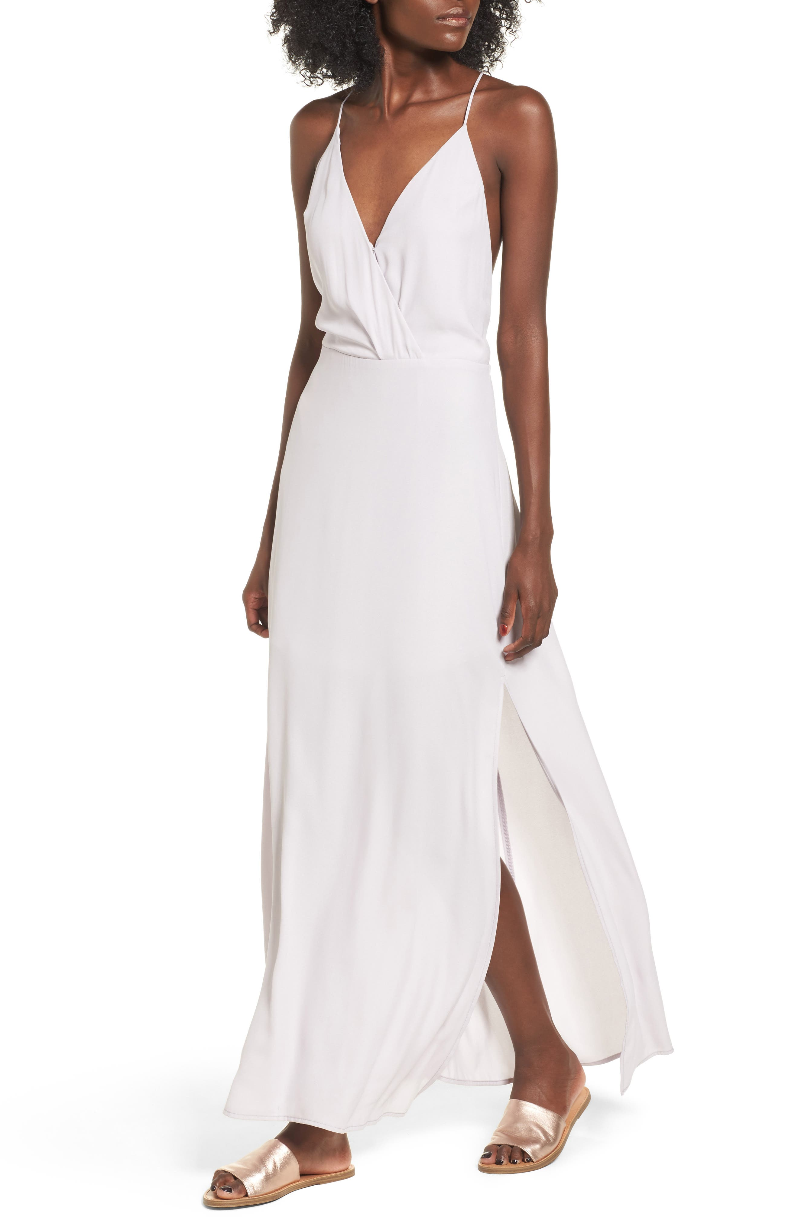 Lush Surplice Maxi Dress
