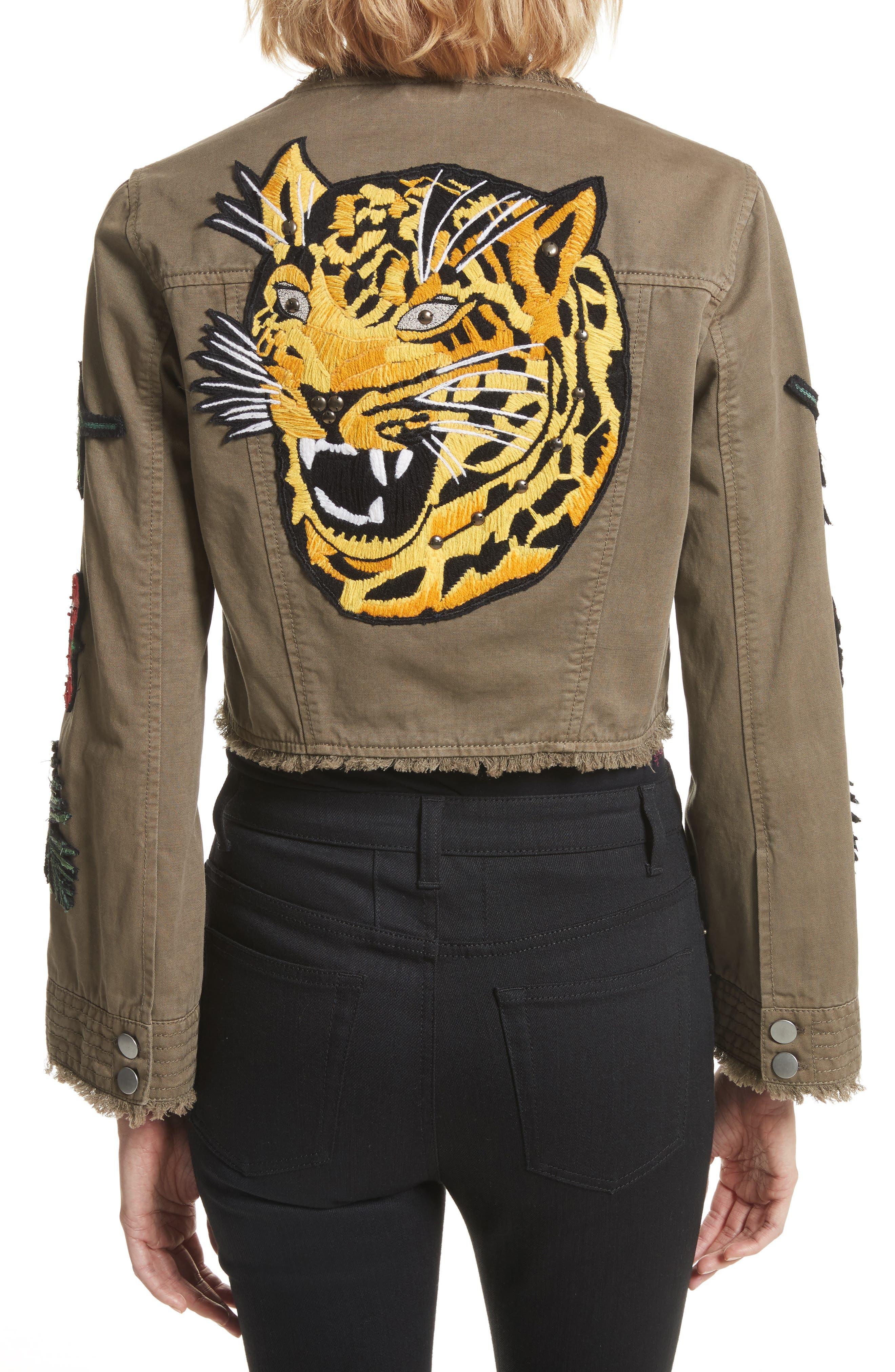 Alternate Image 2  - Cinq à Sept Halina Embellished Crop Jacket
