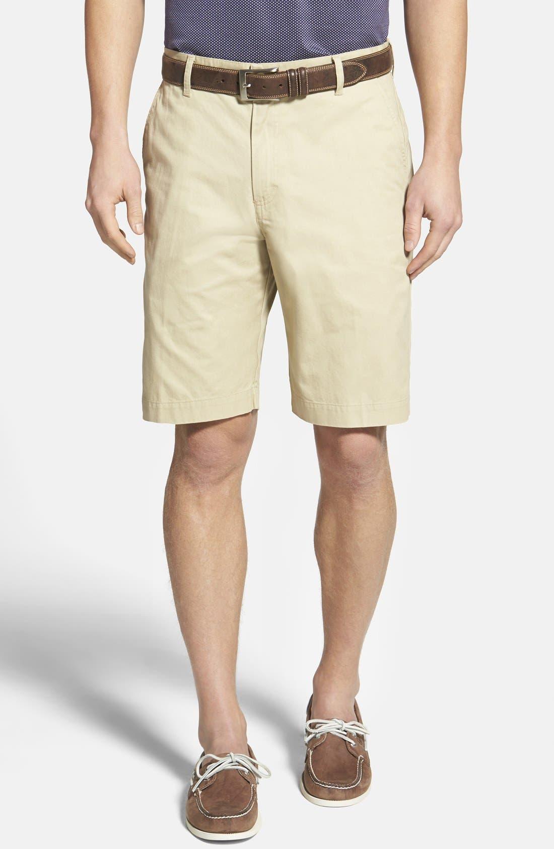 Alternate Image 1 Selected - Bills Khakis 'Parker' Standard Fit Flat Front Island Twill Shorts