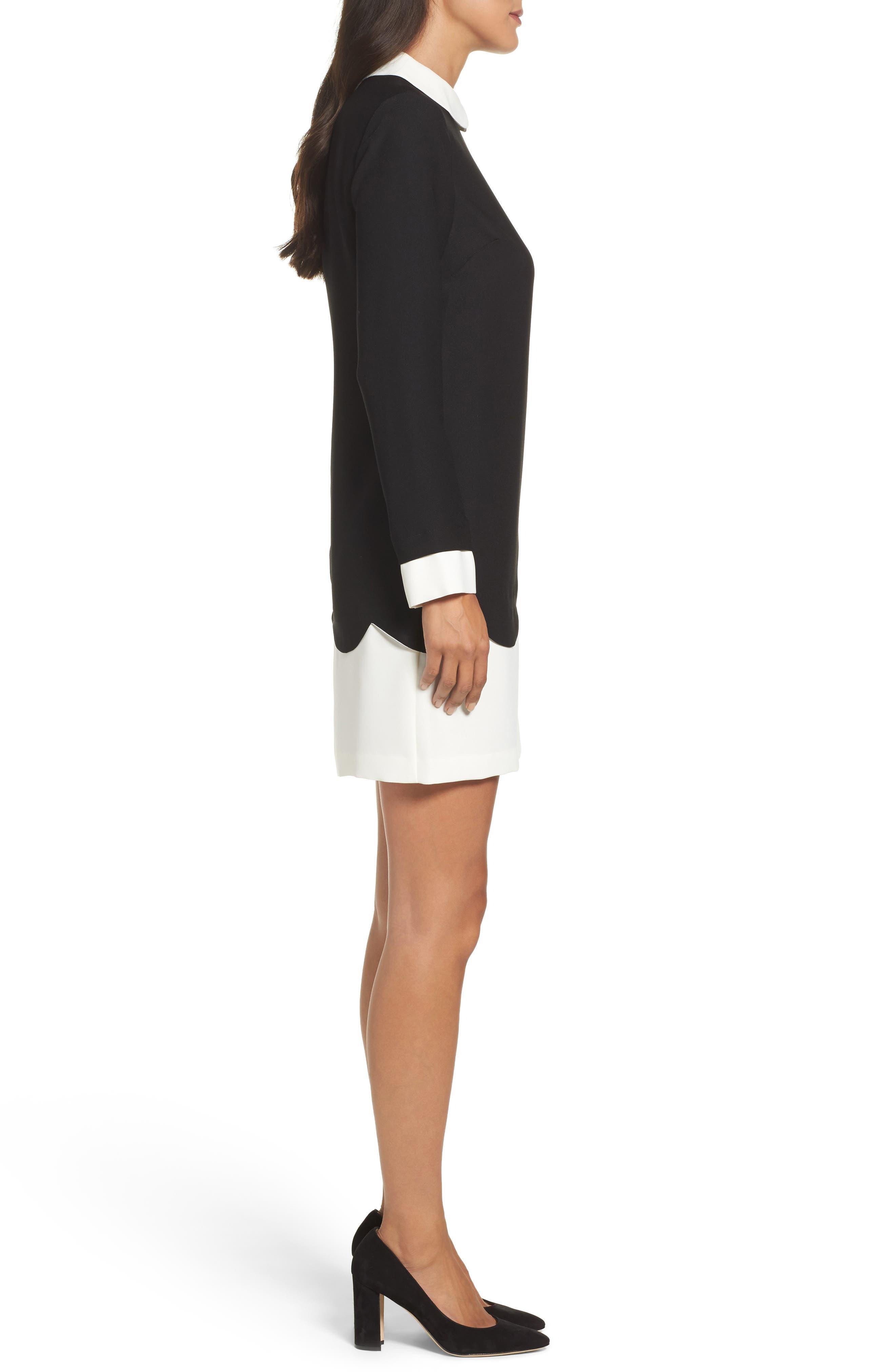 Alternate Image 3  - Cece Jada Scallop Shirtdress (Regular & Petite)