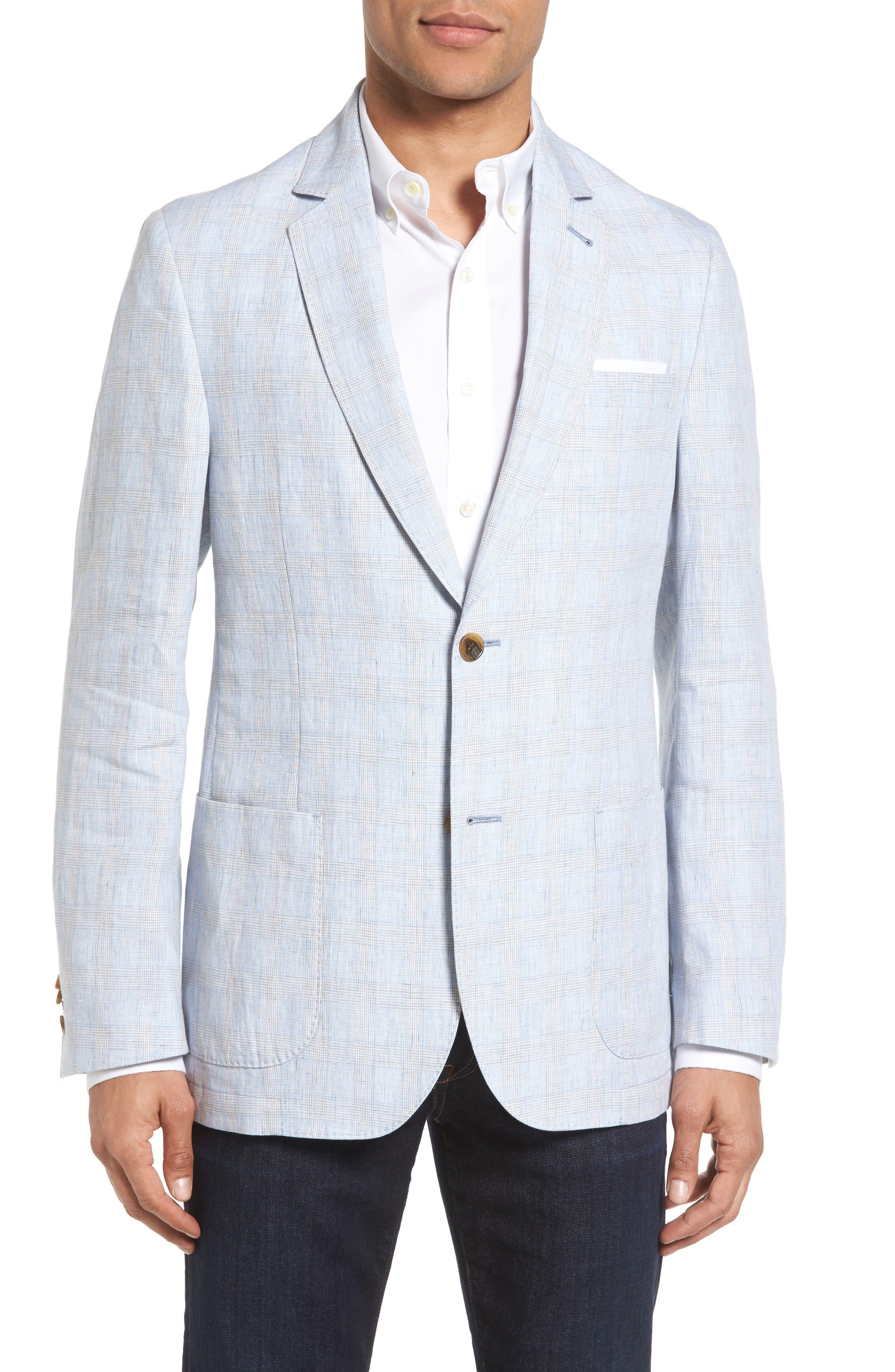 FLYNT Glen Plaid Linen Sport Coat