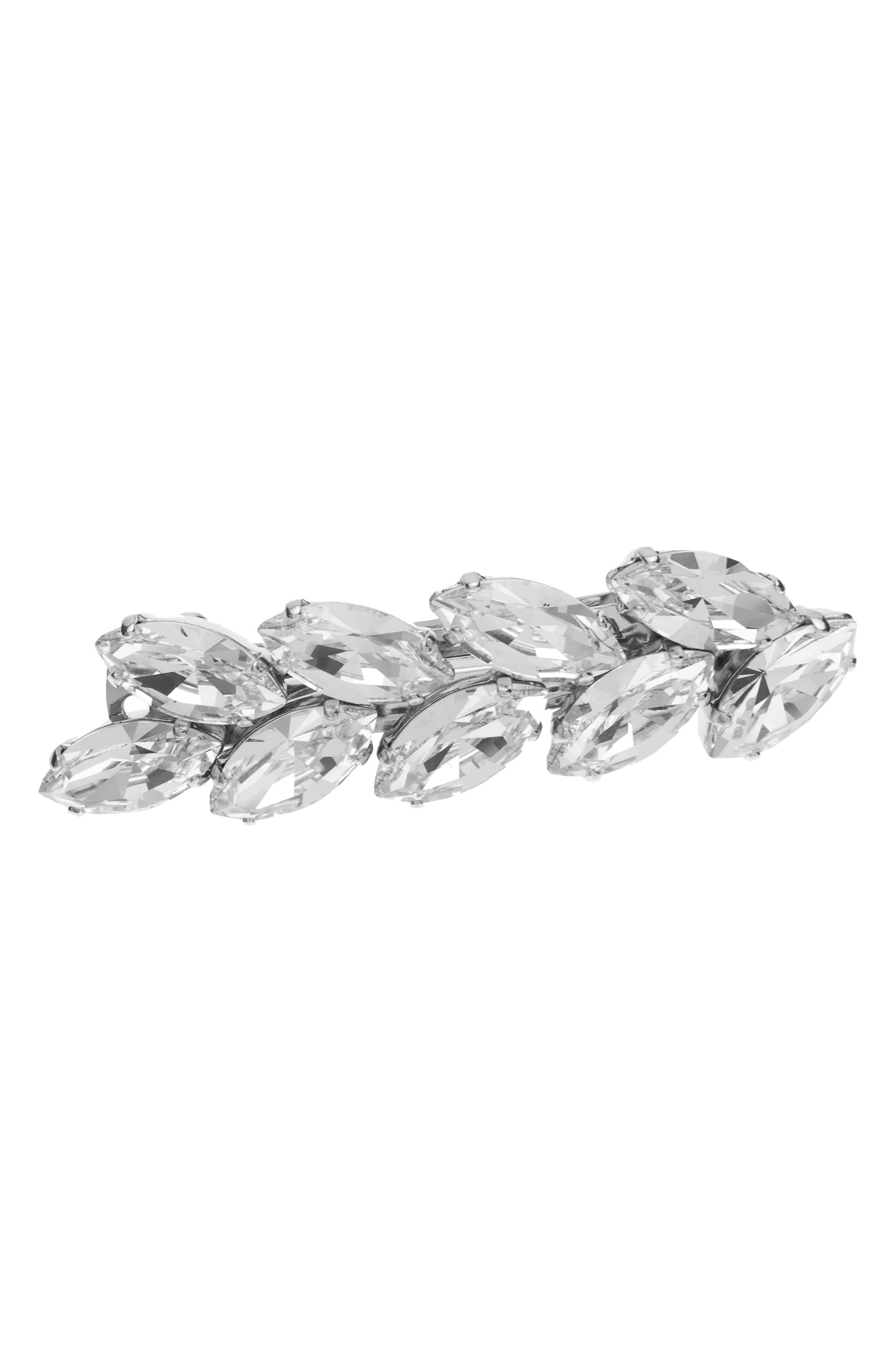 L. Erickson Small Ivy Swarovski Crystal Barrette