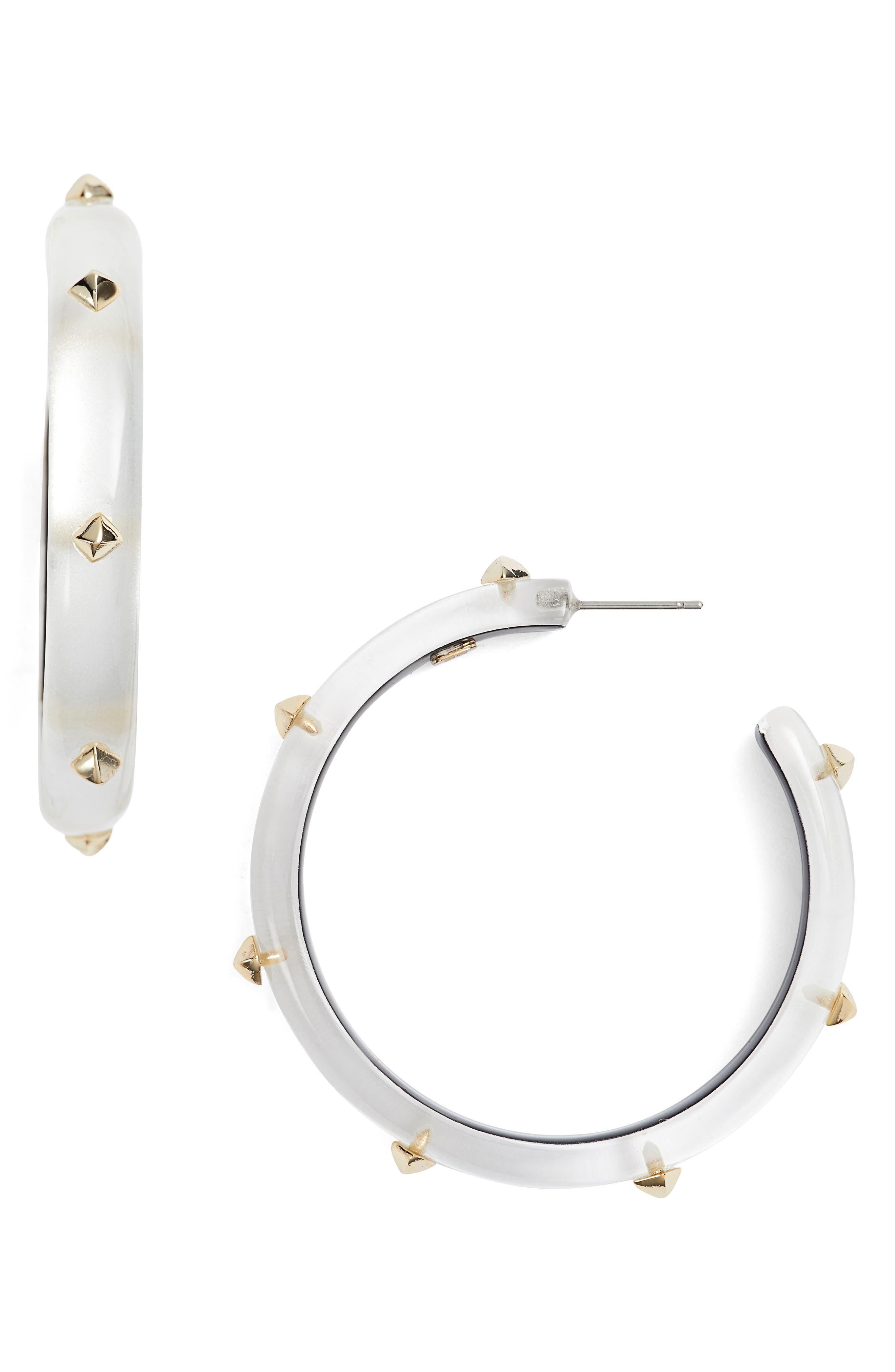 Alexis Bittar Studded Lucite® Hoop Earrings