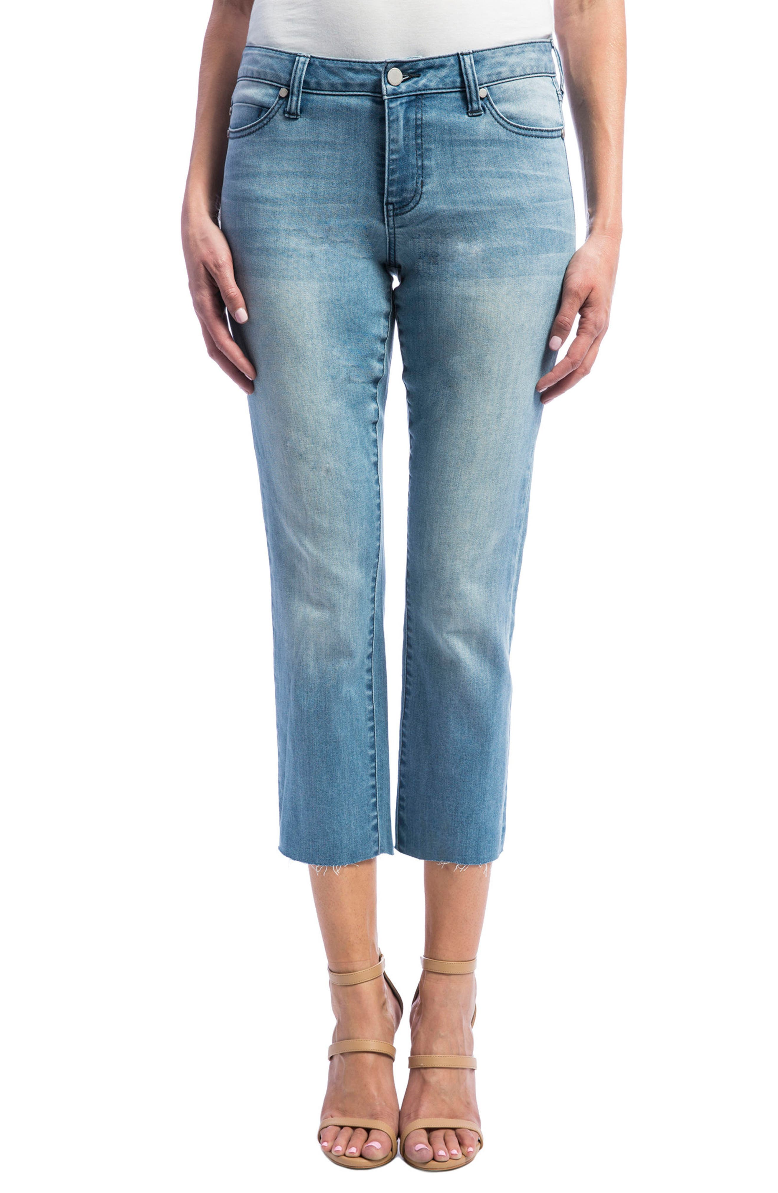 Liverpool Jeans Company Bryce Straight Leg Crop Jeans (Devonshire Bleach)