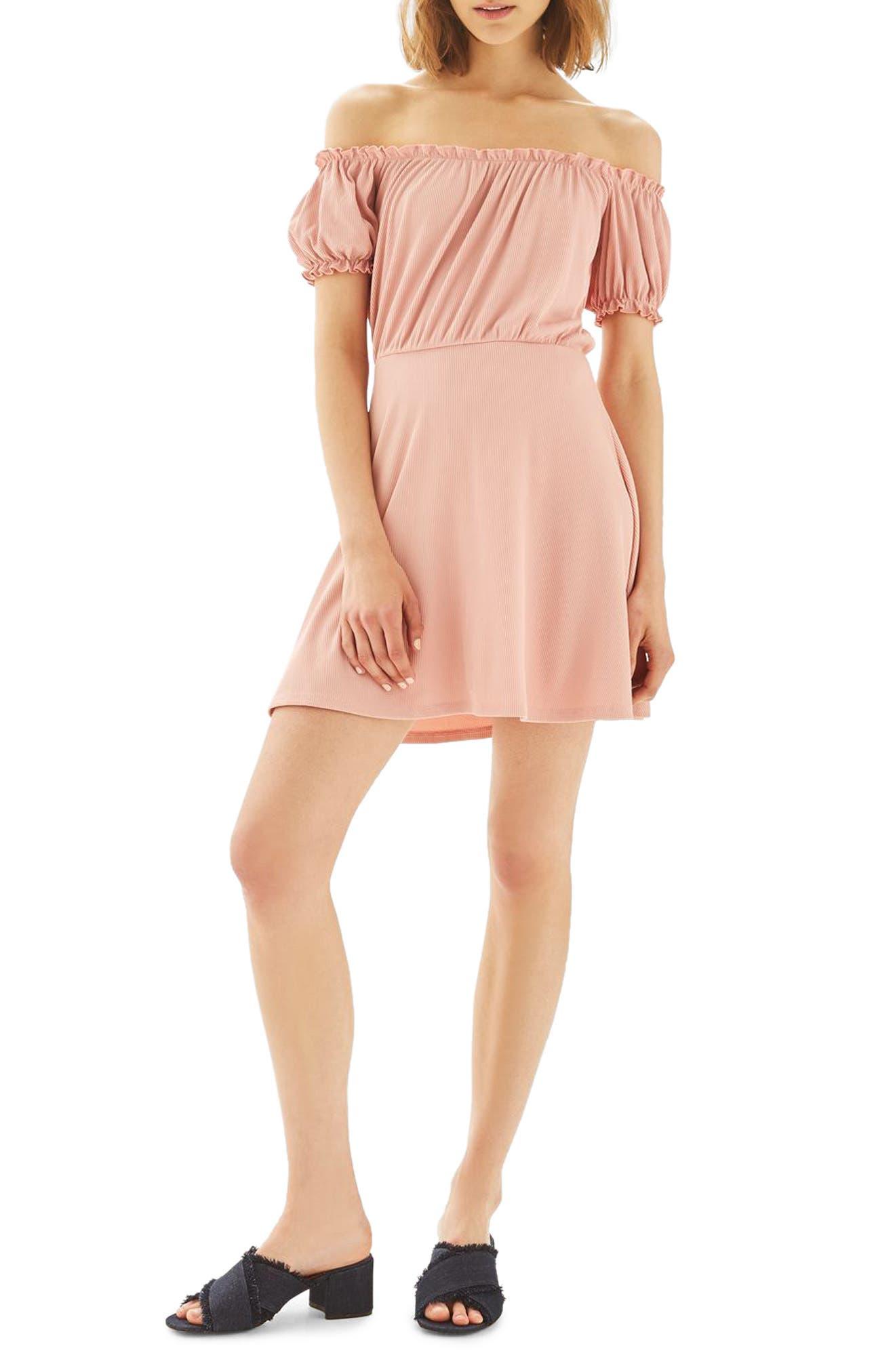 Topshop Bardot Skater Dress