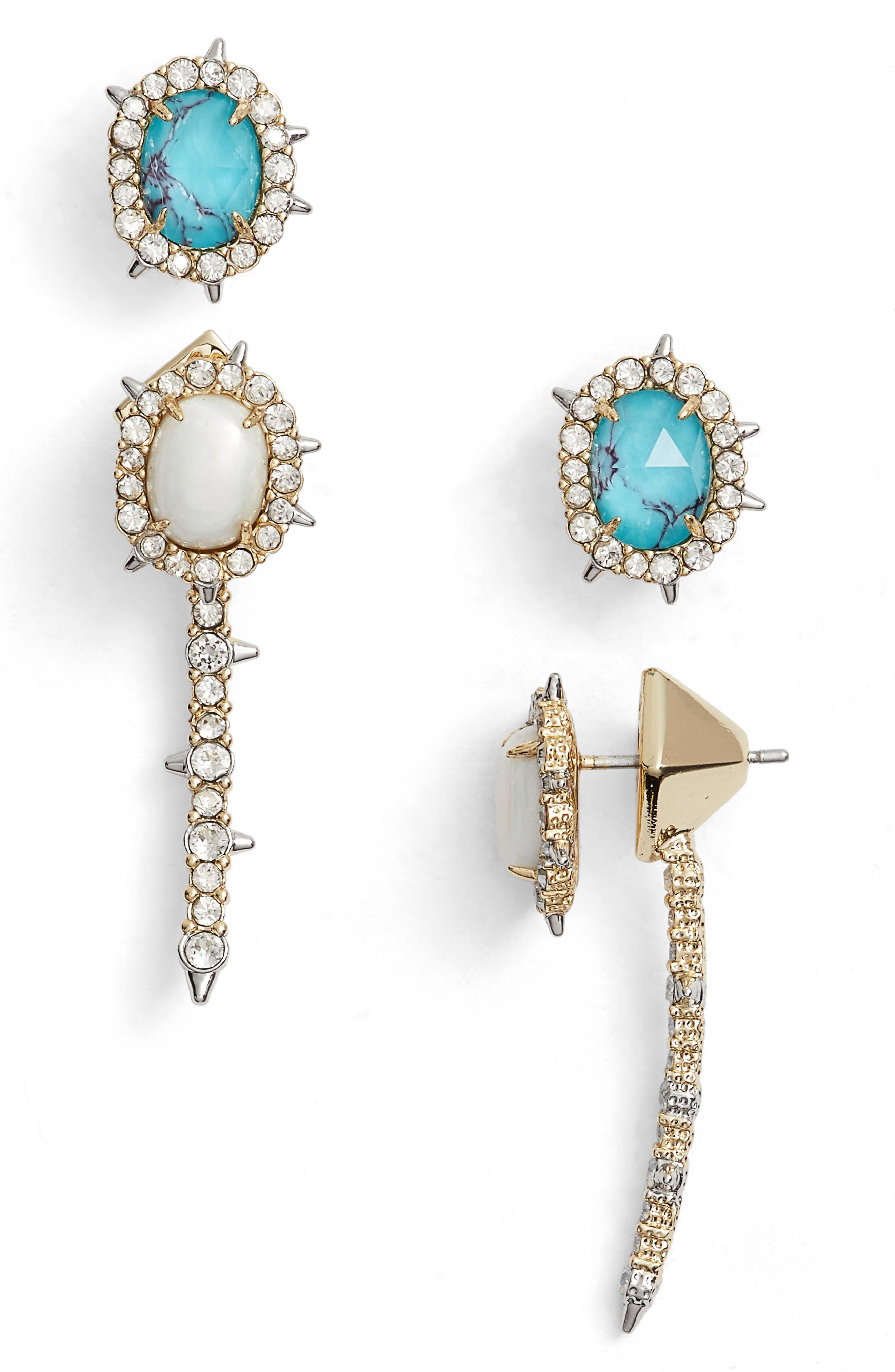 Alexis Bittars Set of Ear Jacket & Stud Earrings