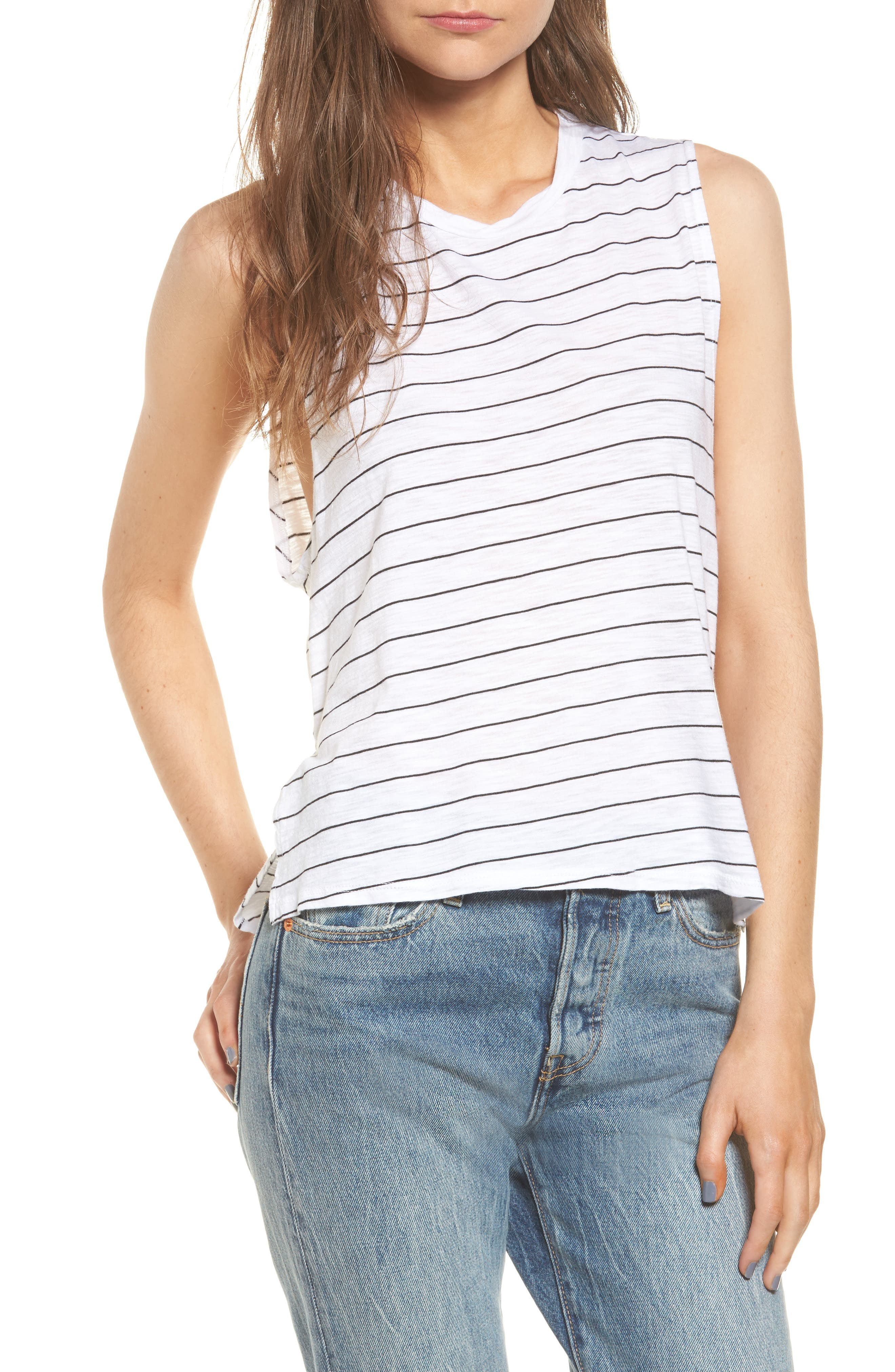 Michelle by Comune Livingston Stripe Muscle Tee