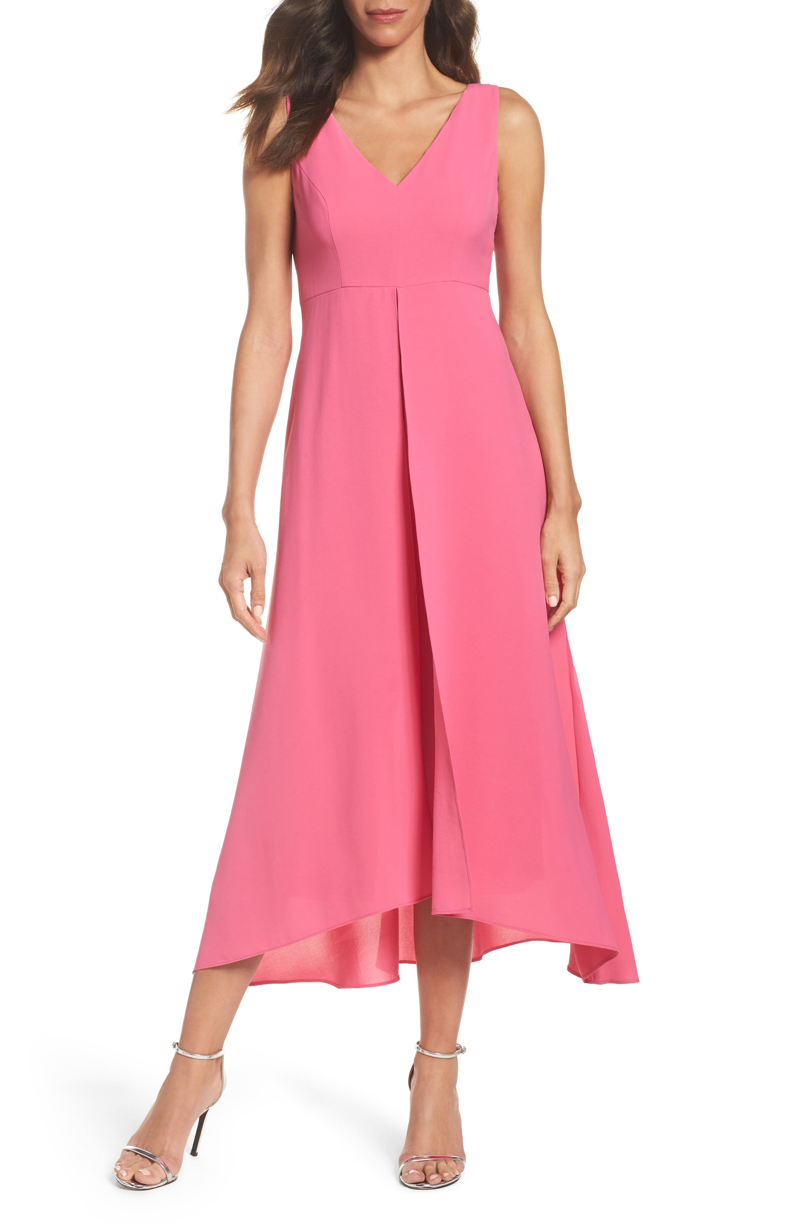 Alternate Image 1 Selected - Adrianna Papell Overlay Chiffon Jumpsuit