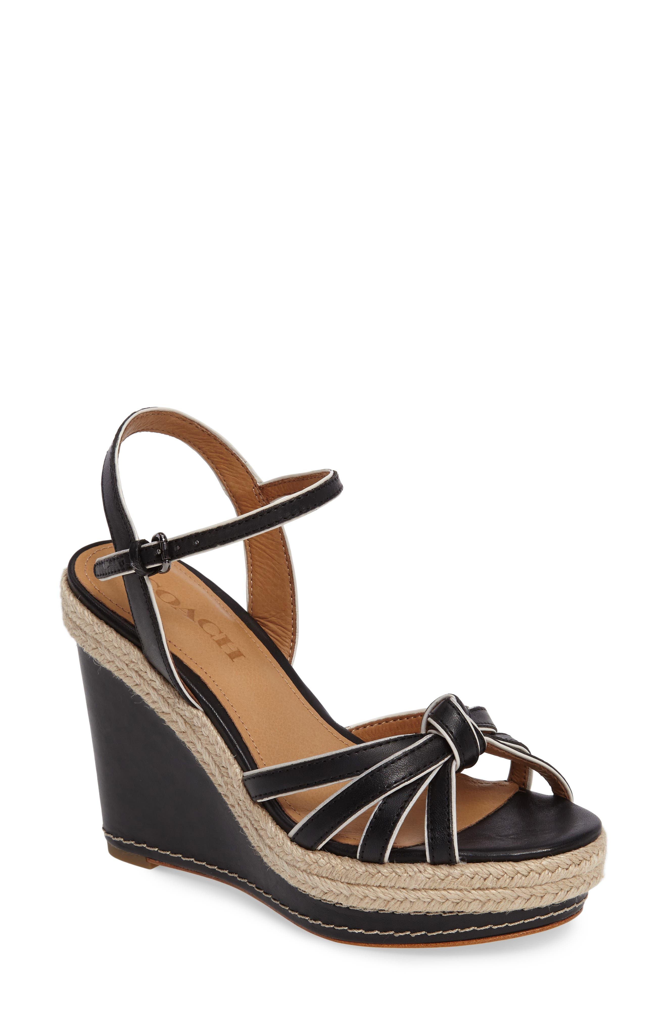 COACH Dalton Espadrille Wedge Sandal (Women)
