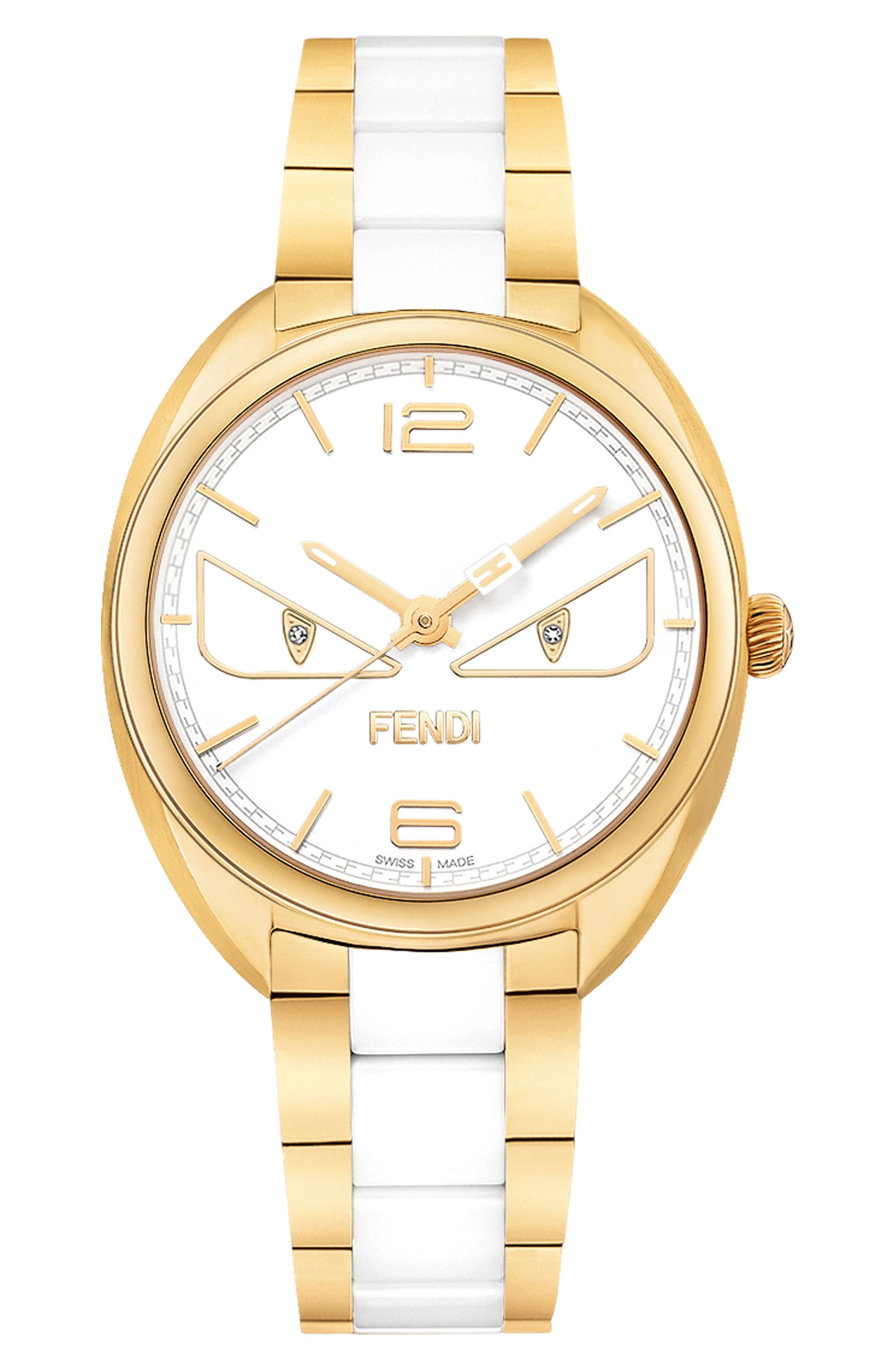 Fendi Momento Bug Bracelet Watch, 34mm