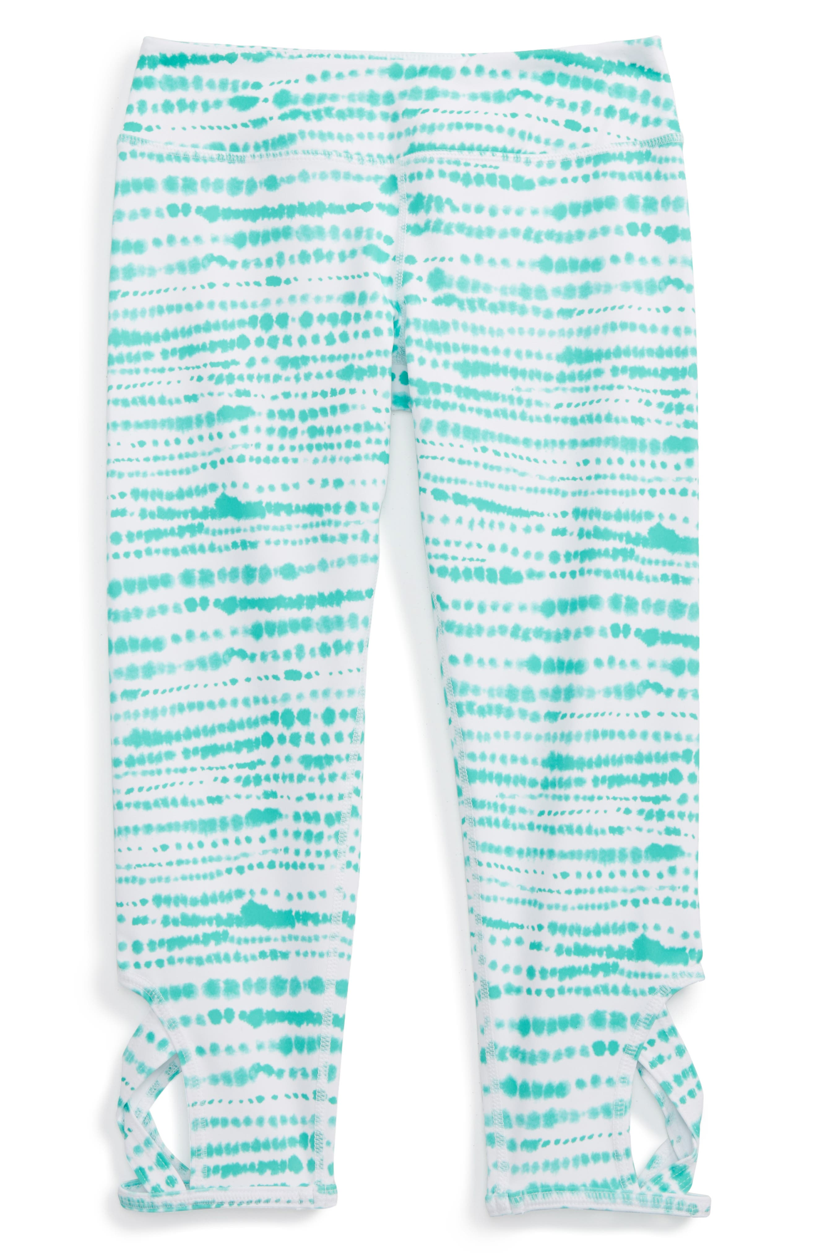 Zella Girl Print Keyhole Crop Leggings (Little Girls & Big Girls)