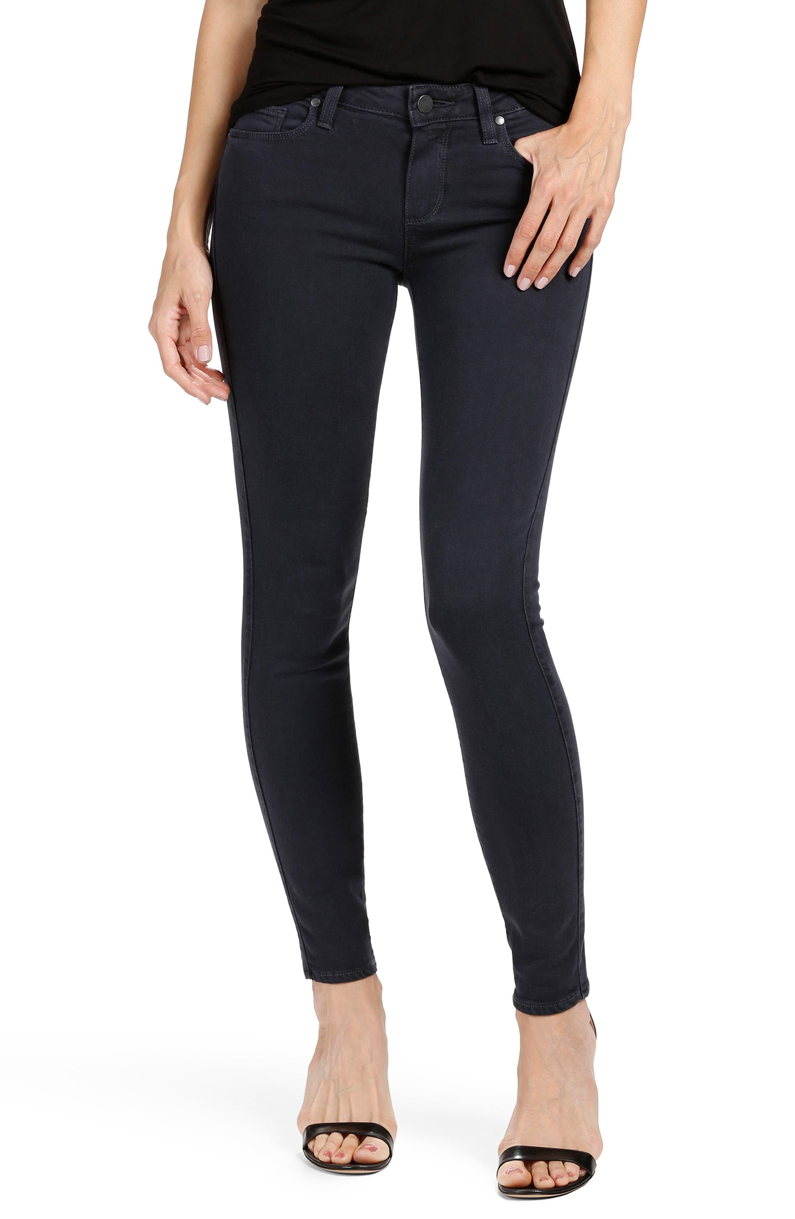 PAIGE Transcend - Verdugo Ankle Skinny Jeans (Navy Eclipse)