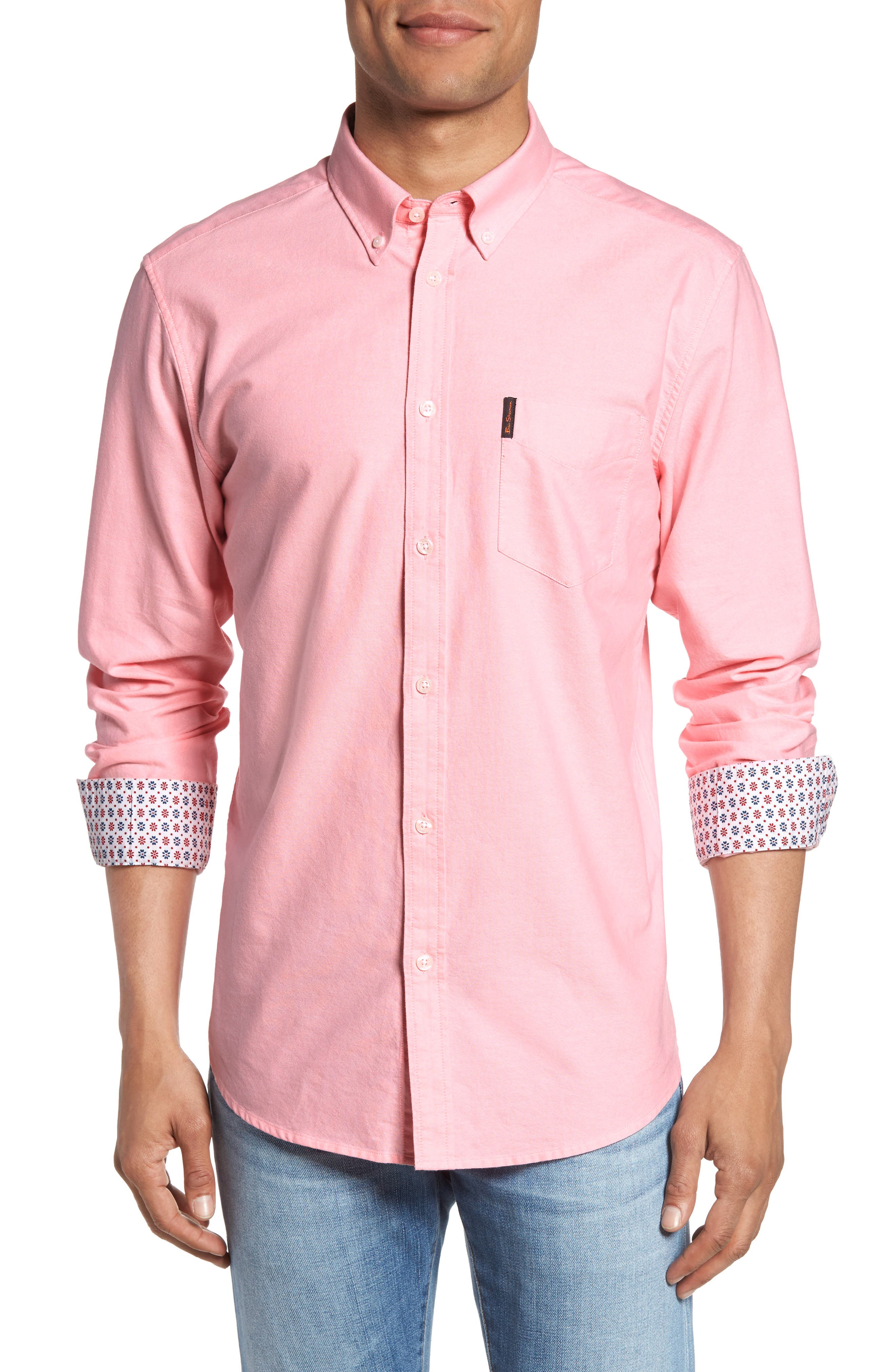 Ben Sherman Contrast Lined Oxford Shirt