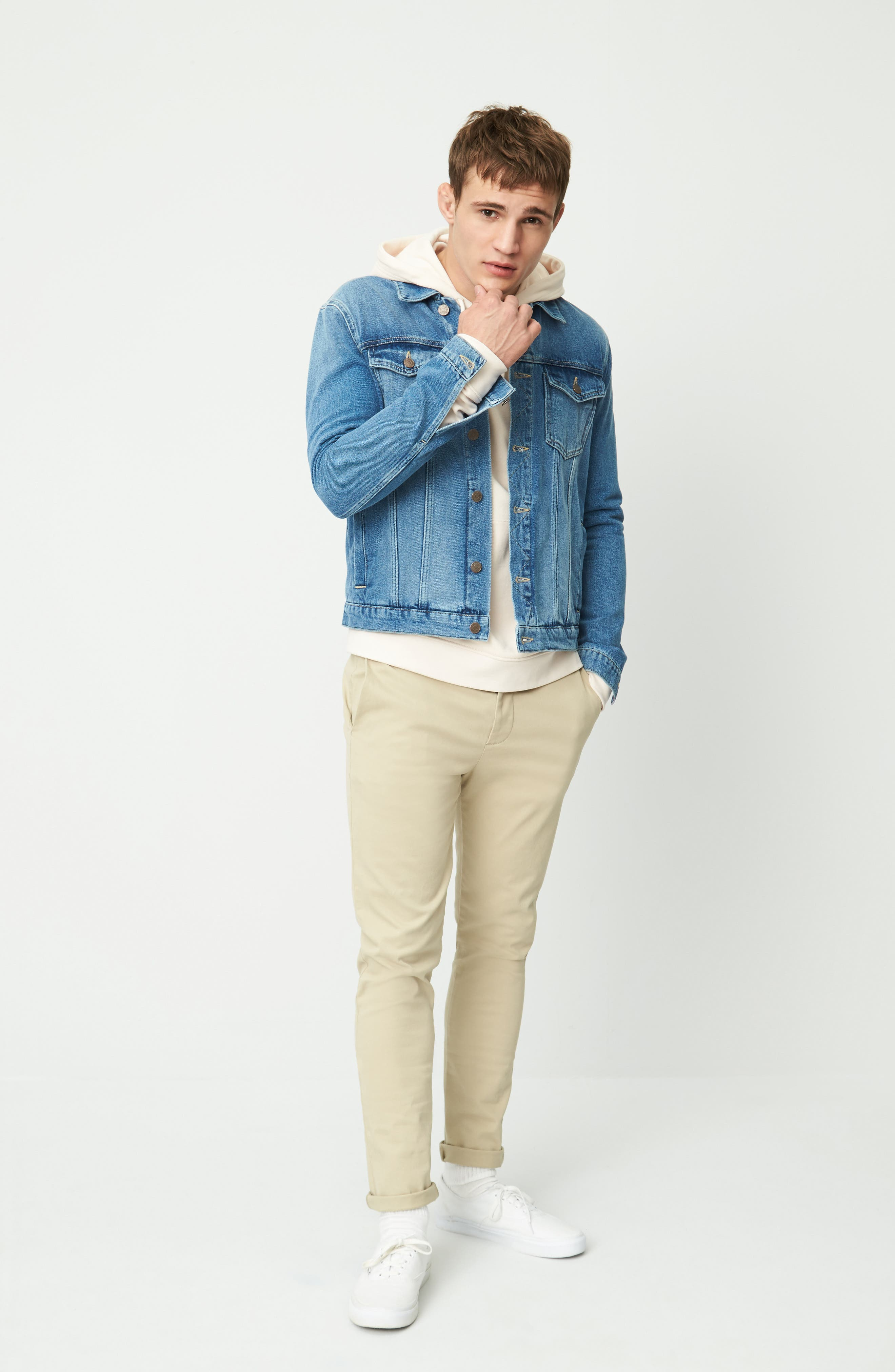 Alternate Image 2  - Topman Griffin Denim Jacket