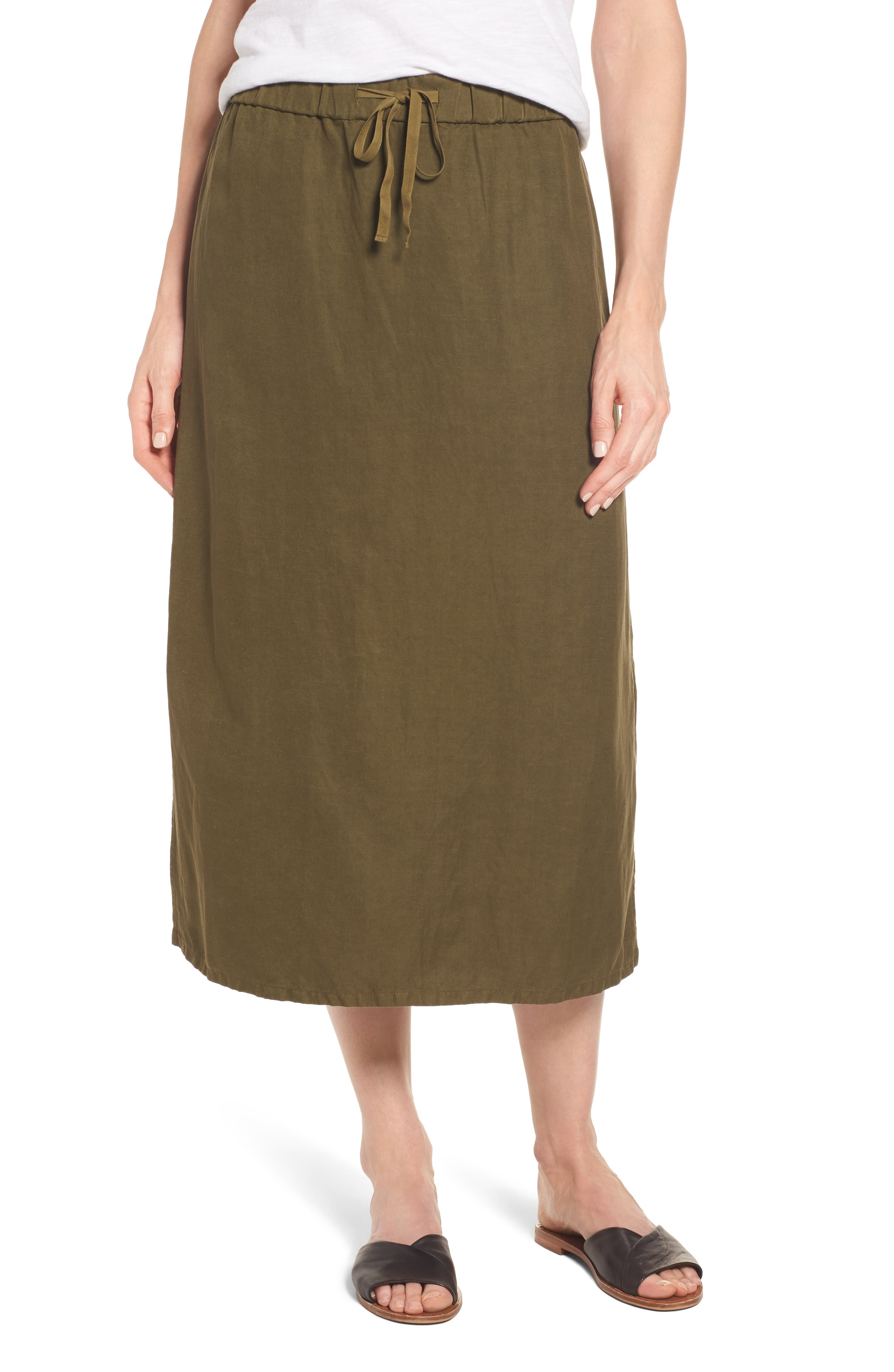 Eileen Fisher Tencel® & Linen Straight Skirt