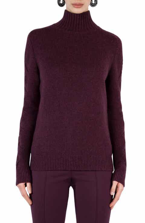 Akris punto Wool Blend Turtleneck Sweater