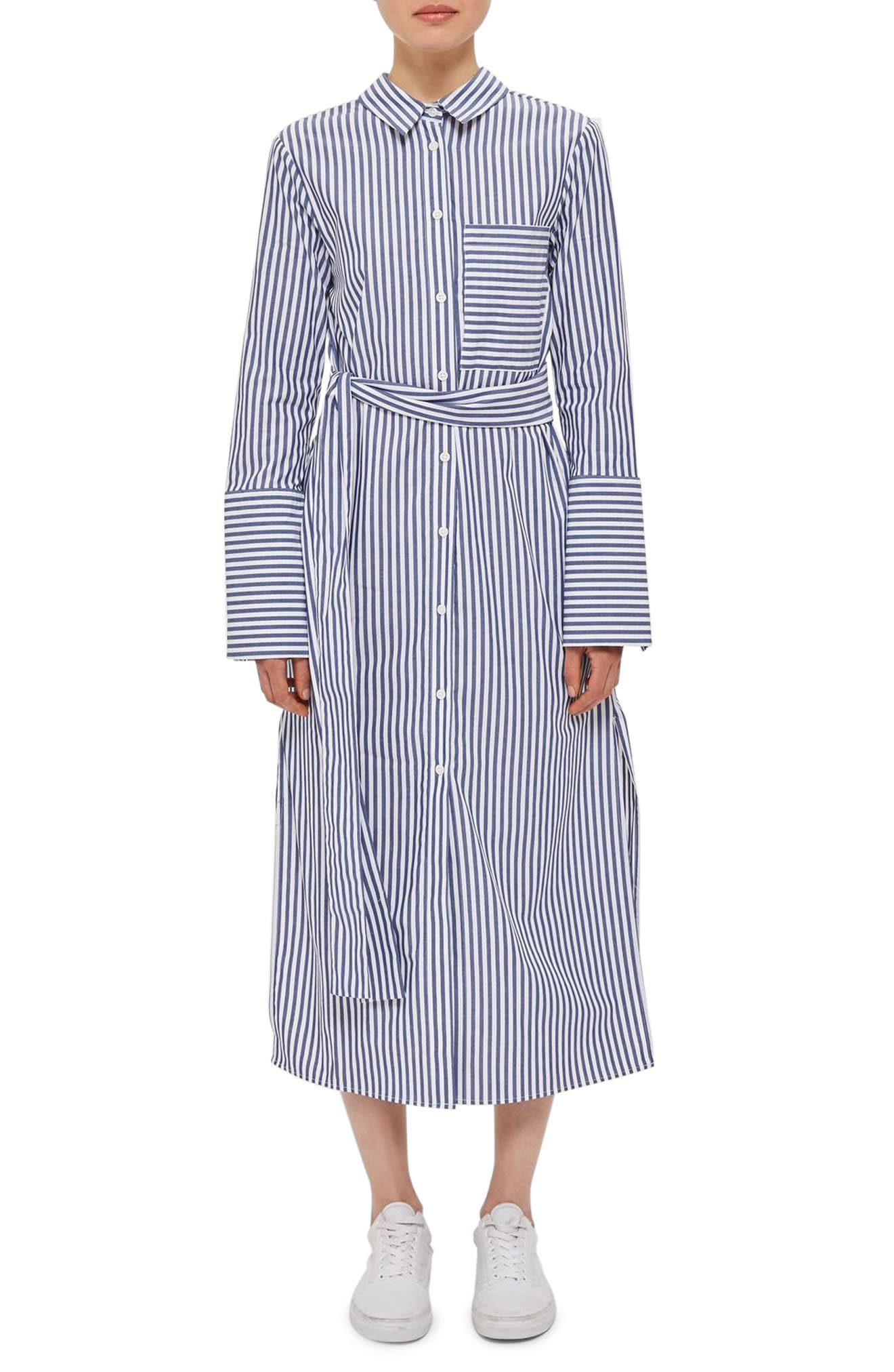 Topshop Boutique Stripe Shirtdress