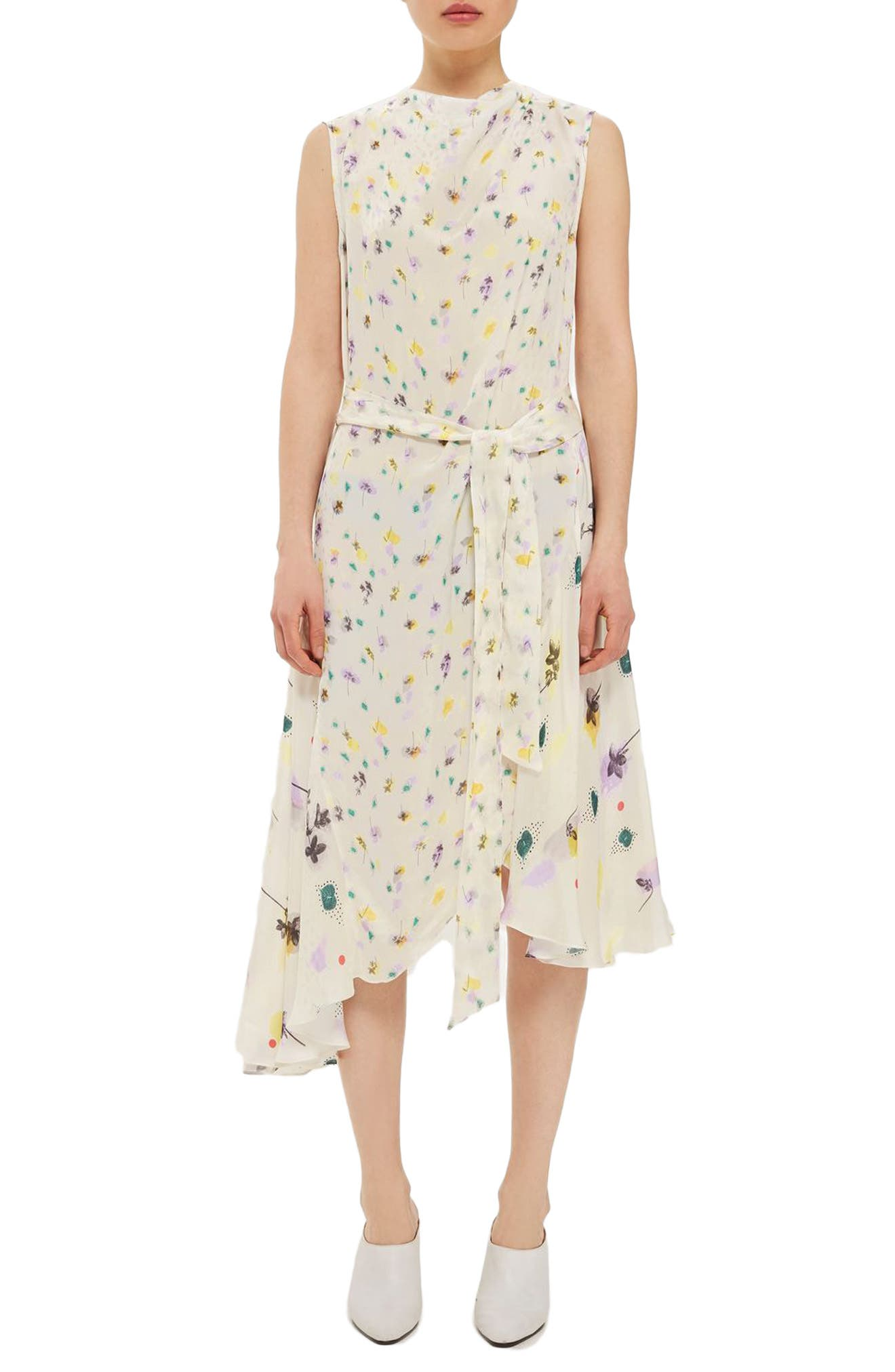 Topshop Boutique Floral Mix Midi Dress