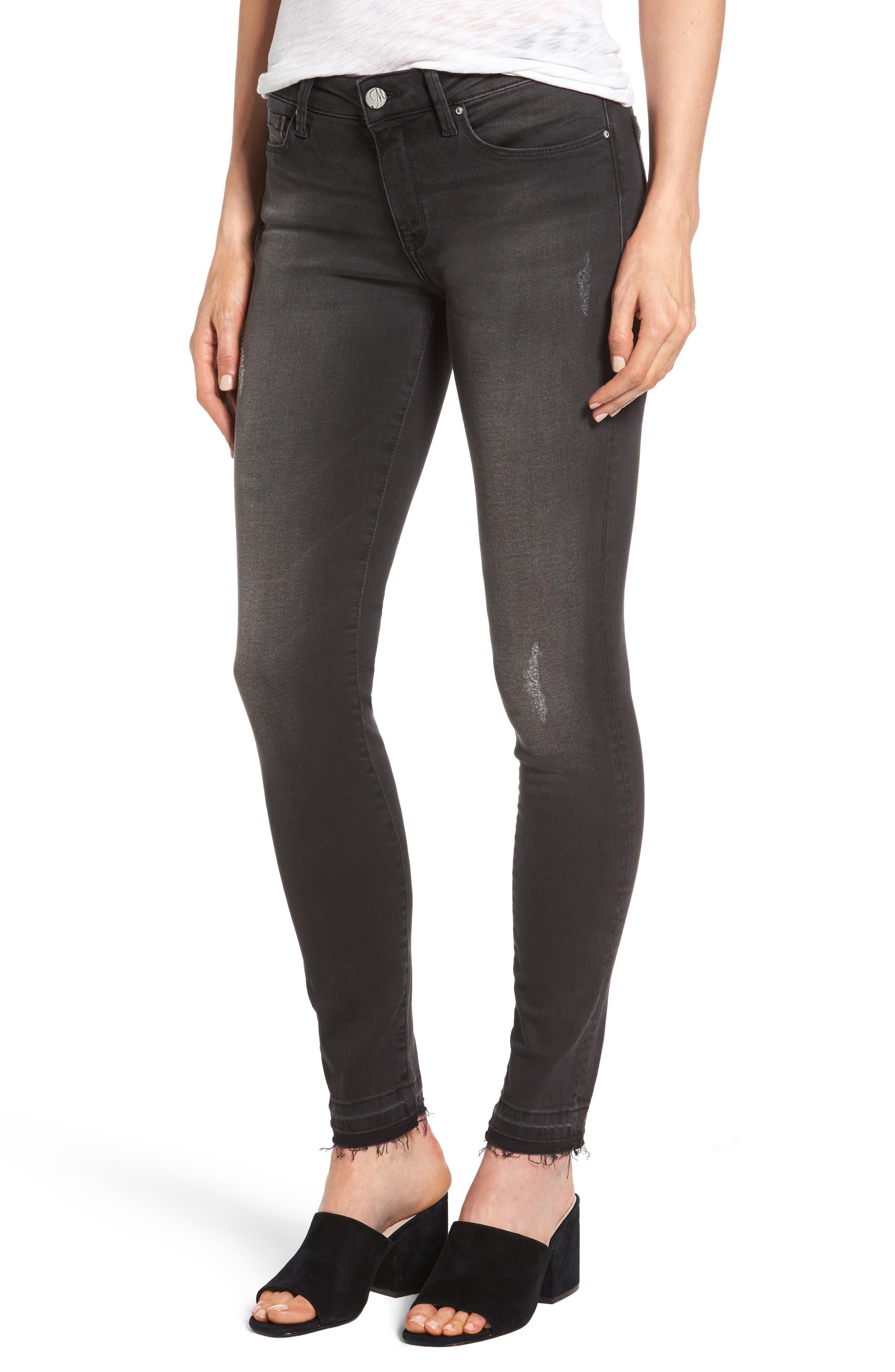 Mavi Jeans Adriana Stretch Release Hem Ankle Jeans (Smoke Tribeca)