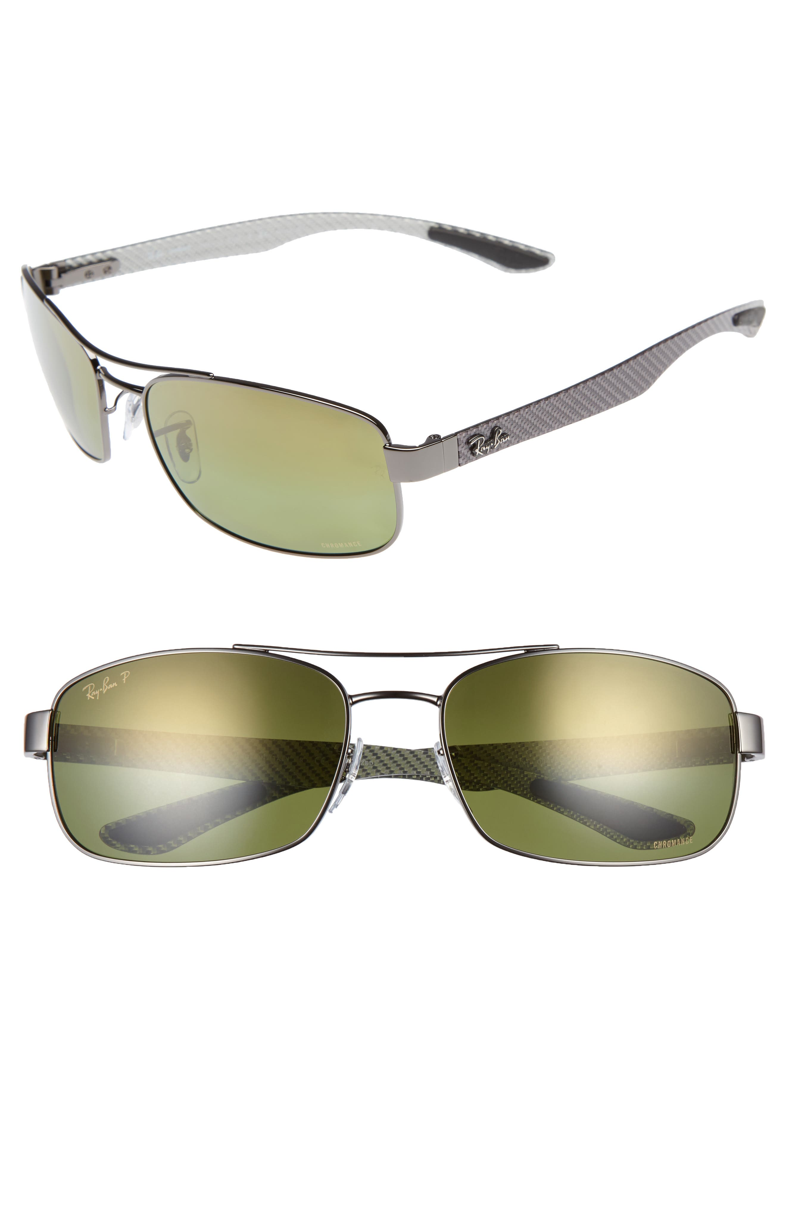 Ray-Ban Chromance 62mm Polarized Sunglasses