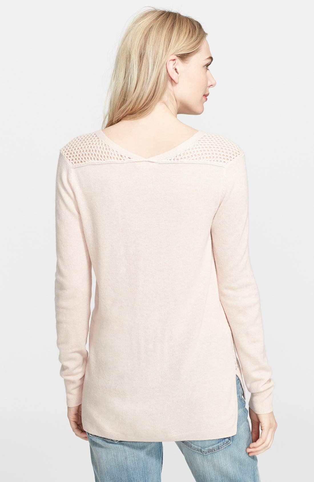 Alternate Image 2  - Rebecca Taylor Mesh Knit Sweater