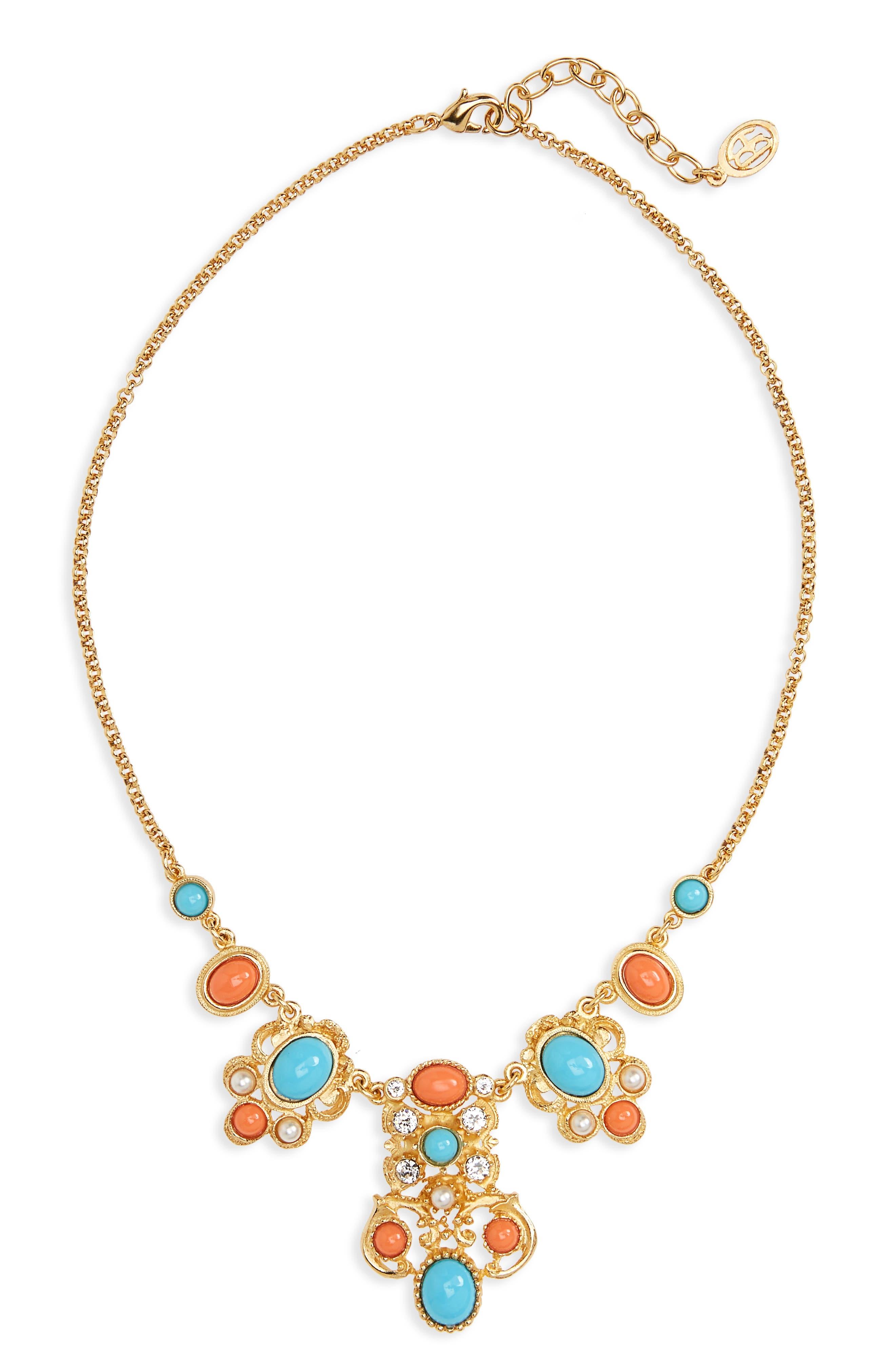 Ben-Amun Adriatic Sea Jewel Collar Necklace
