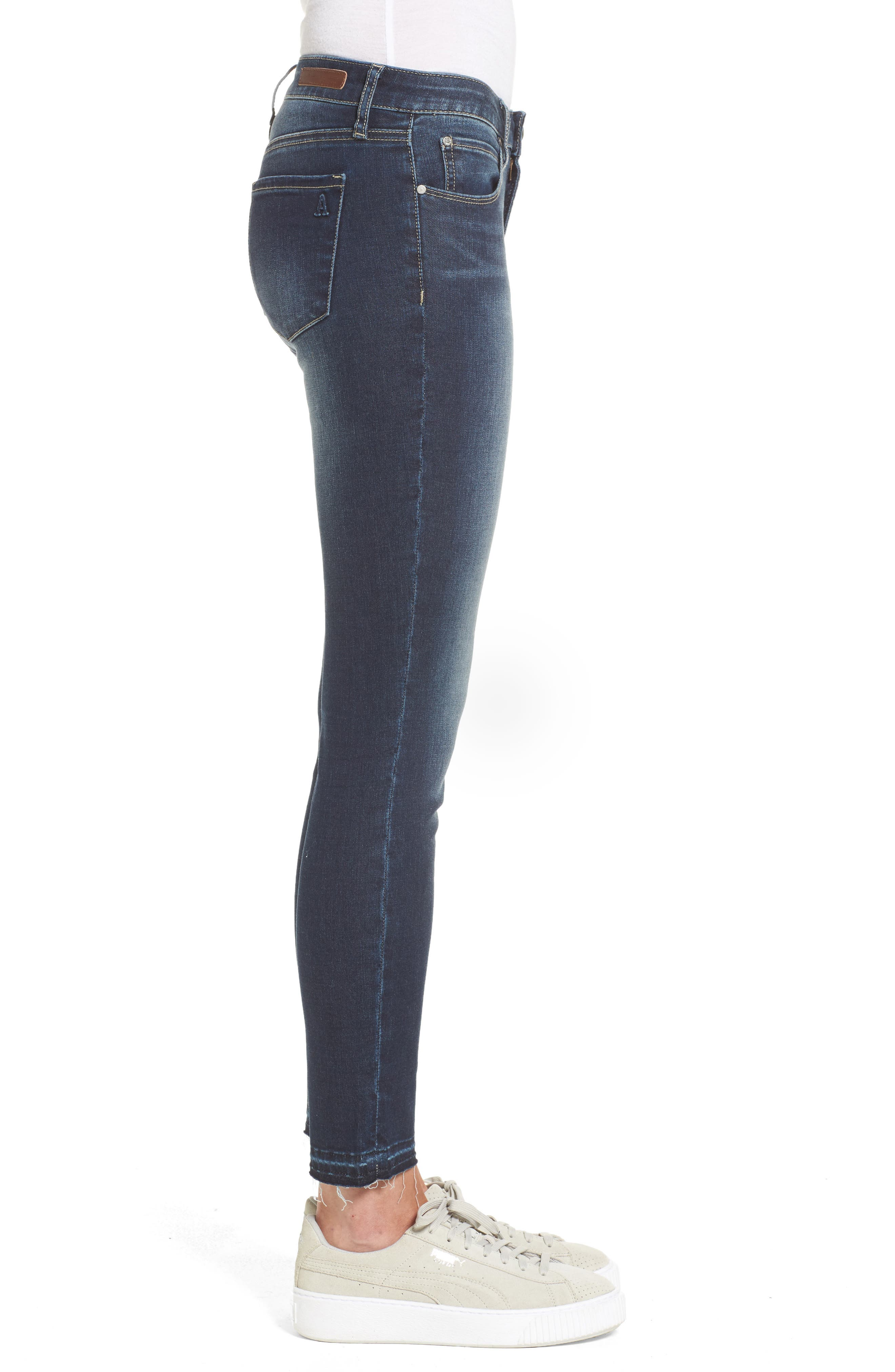 Alternate Image 3  - Articles of Society Carly Release Hem Crop Skinny Jeans (Blue Fly)