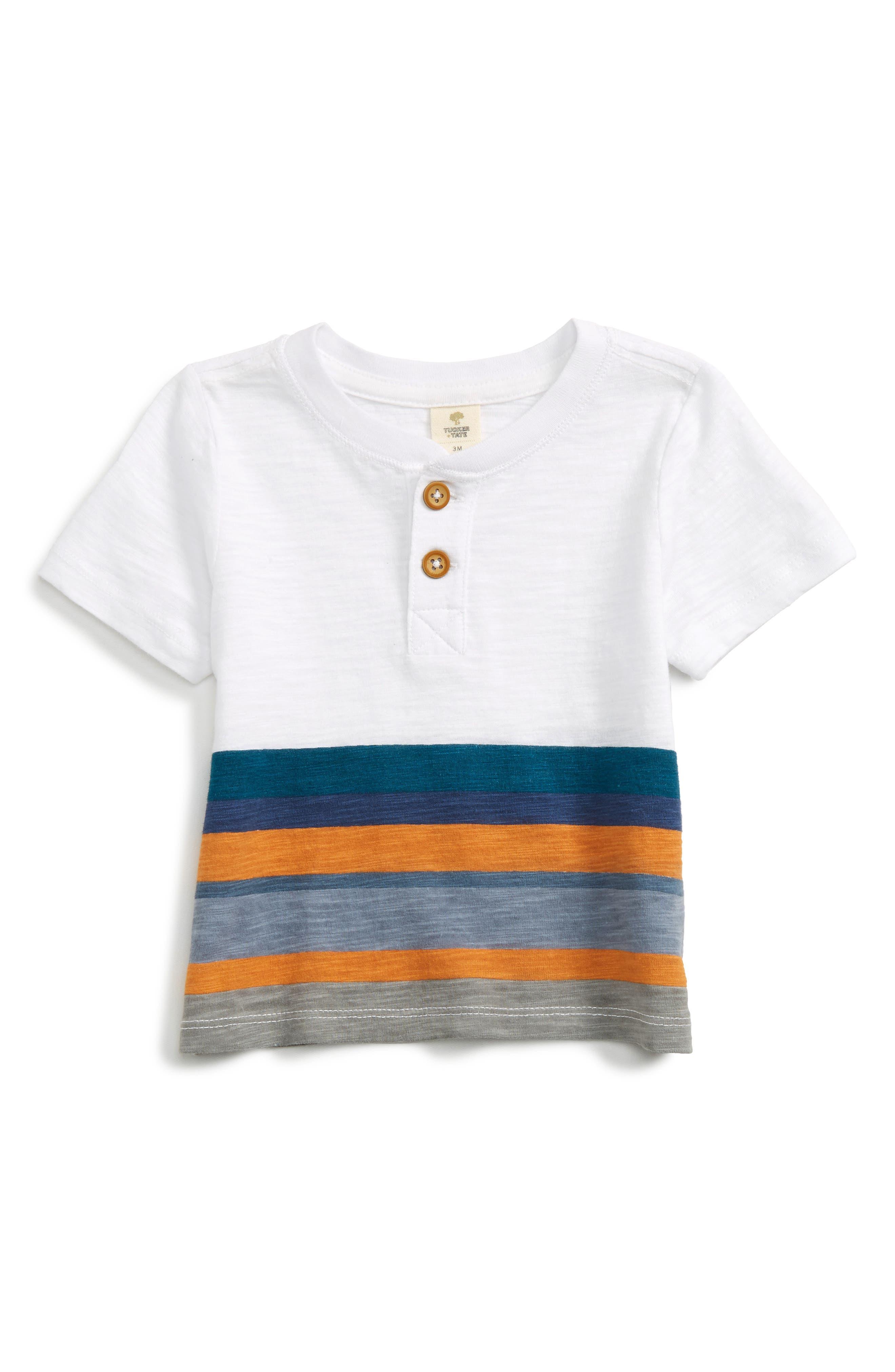 Tucker + Tate Stripe Henley Shirt (Baby Boys)