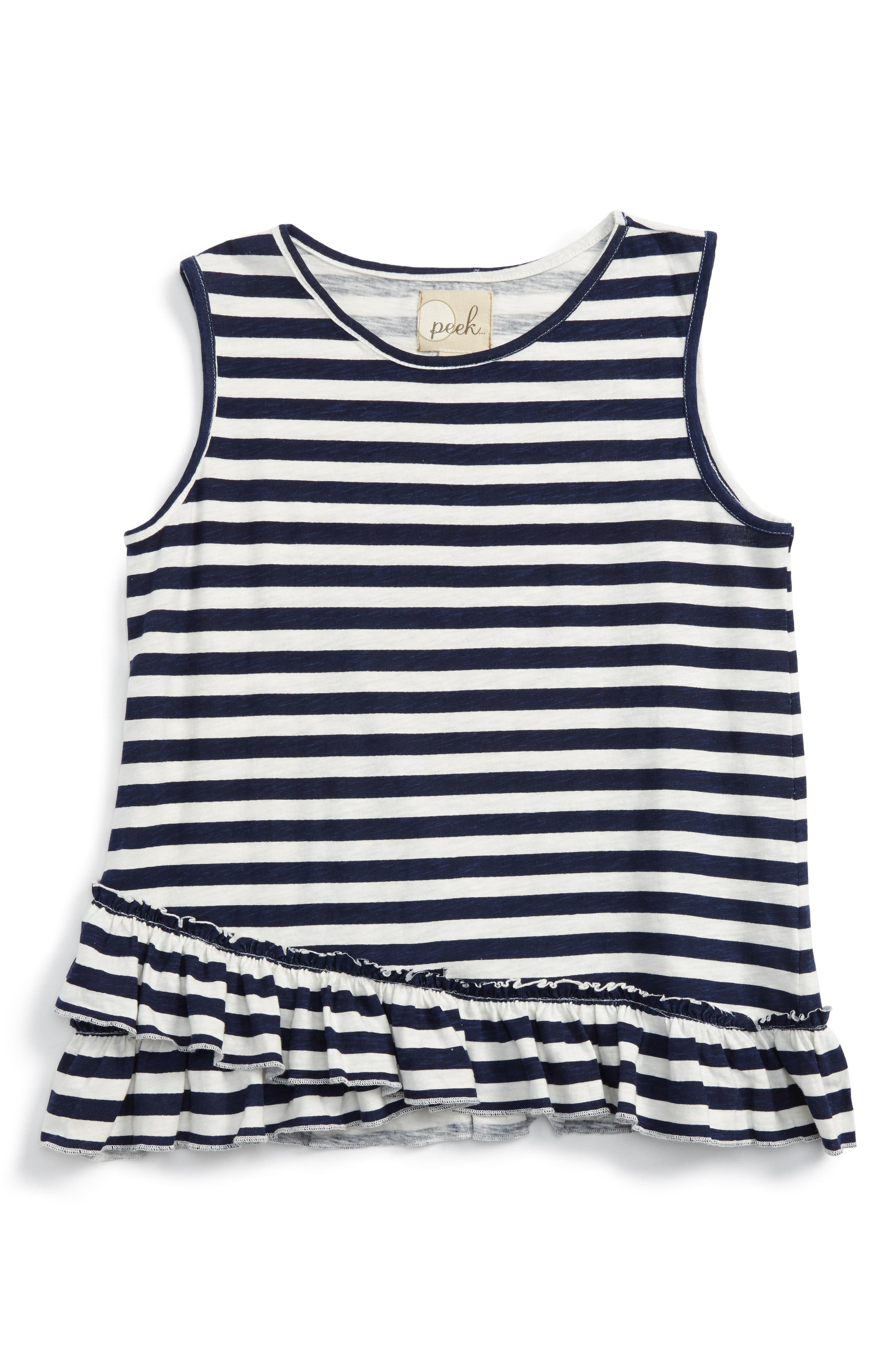 Peek Criss Cross Tank (Toddler Girls, Little Girls & Big Girls)