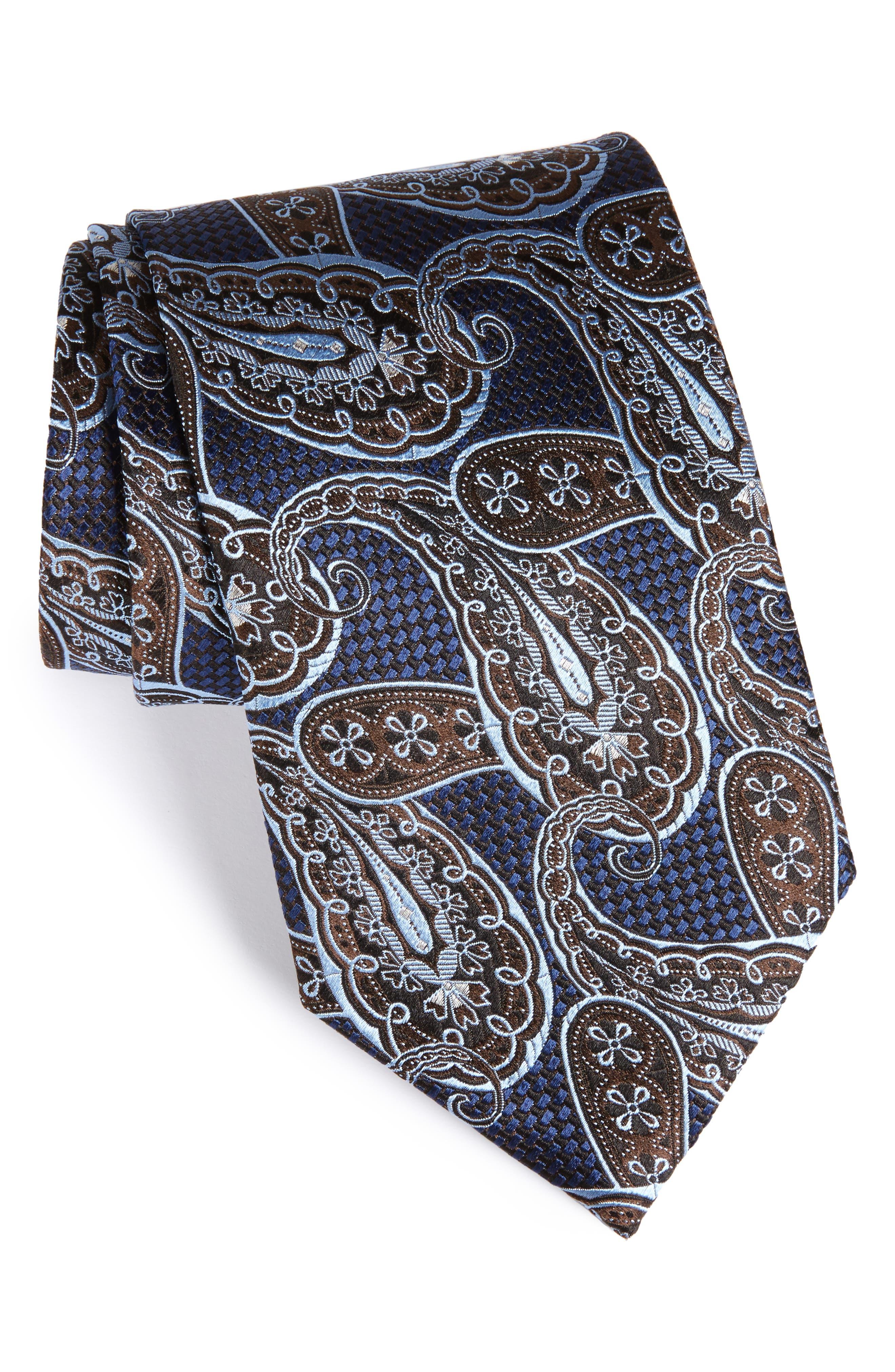 Ermenegildo Zegna Paisley Silk Tie (X-Long)