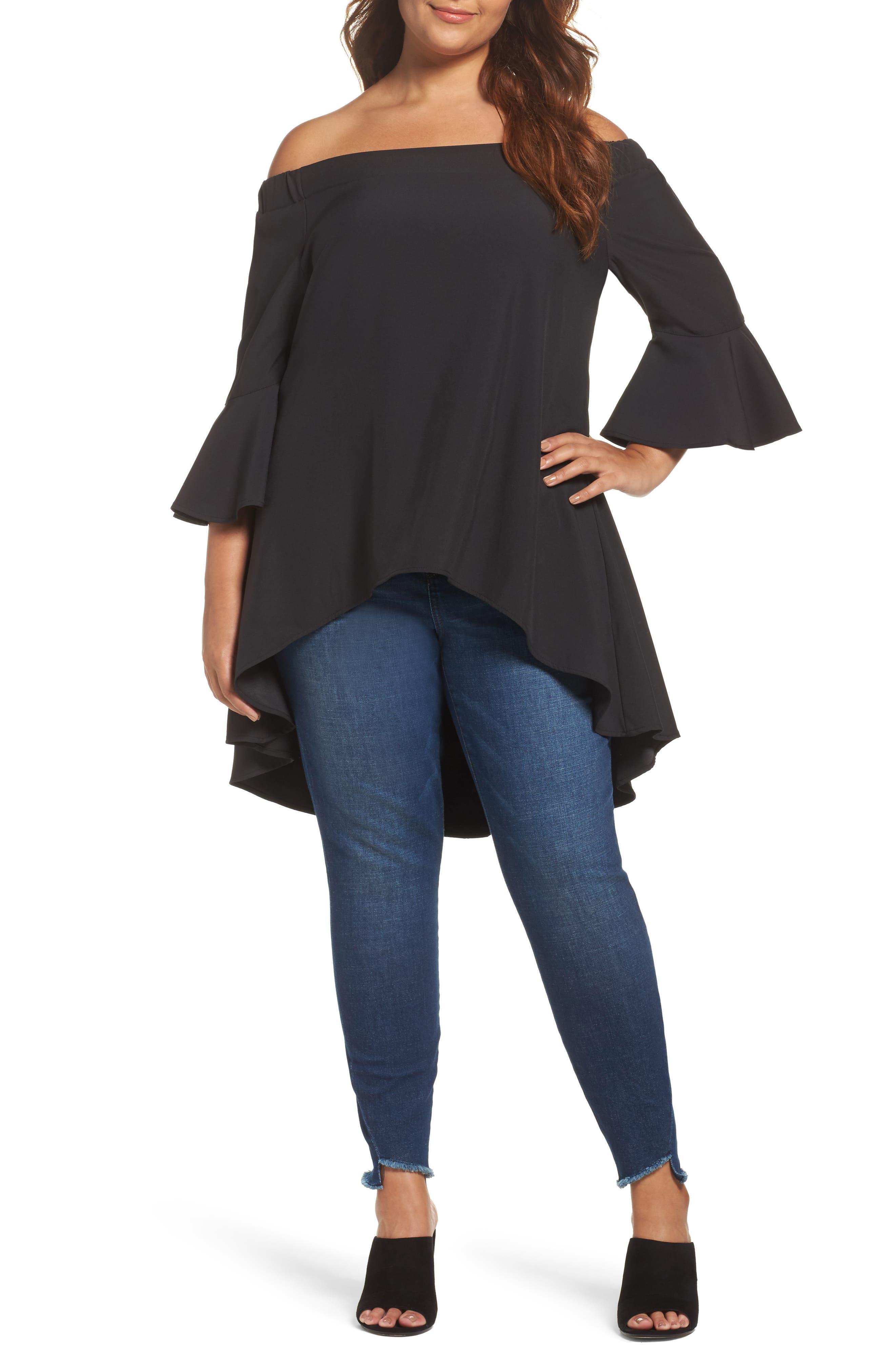 Glamorous Off the Shoulder Tunic (Plus Size)