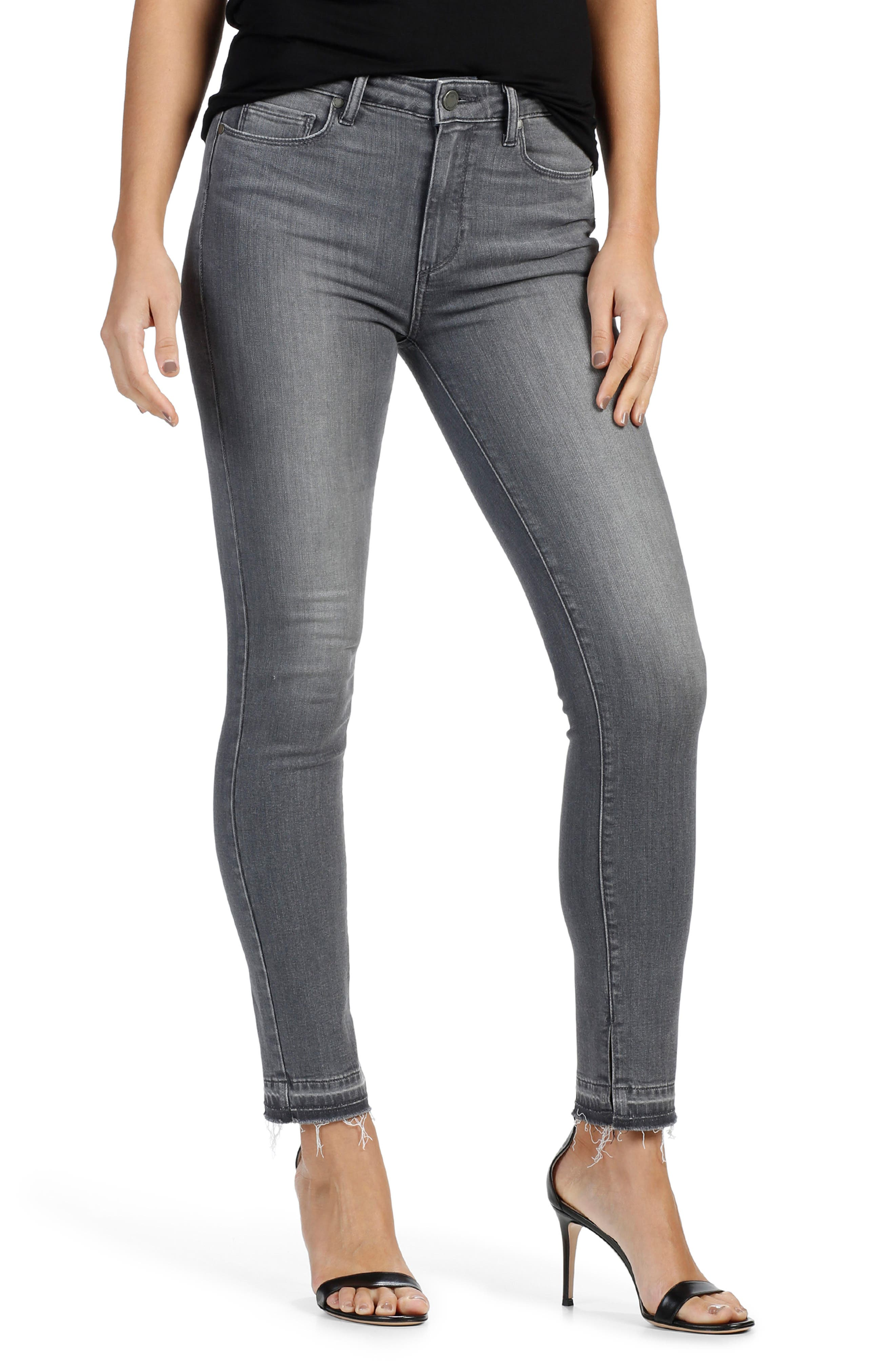 PAIGE Transcend - Hoxton High Waist Ankle Peg Skinny Jeans (Ivy)