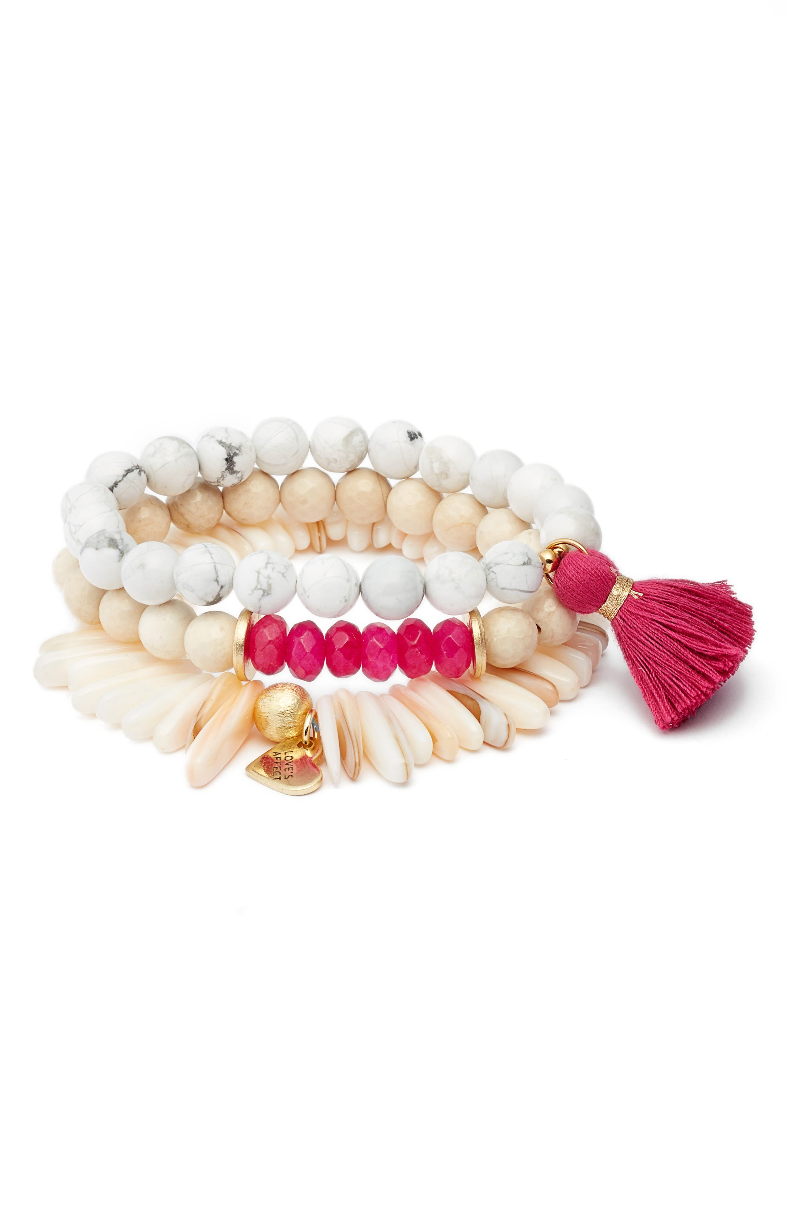 Love's Affect Set of 3 Stretch Bracelets