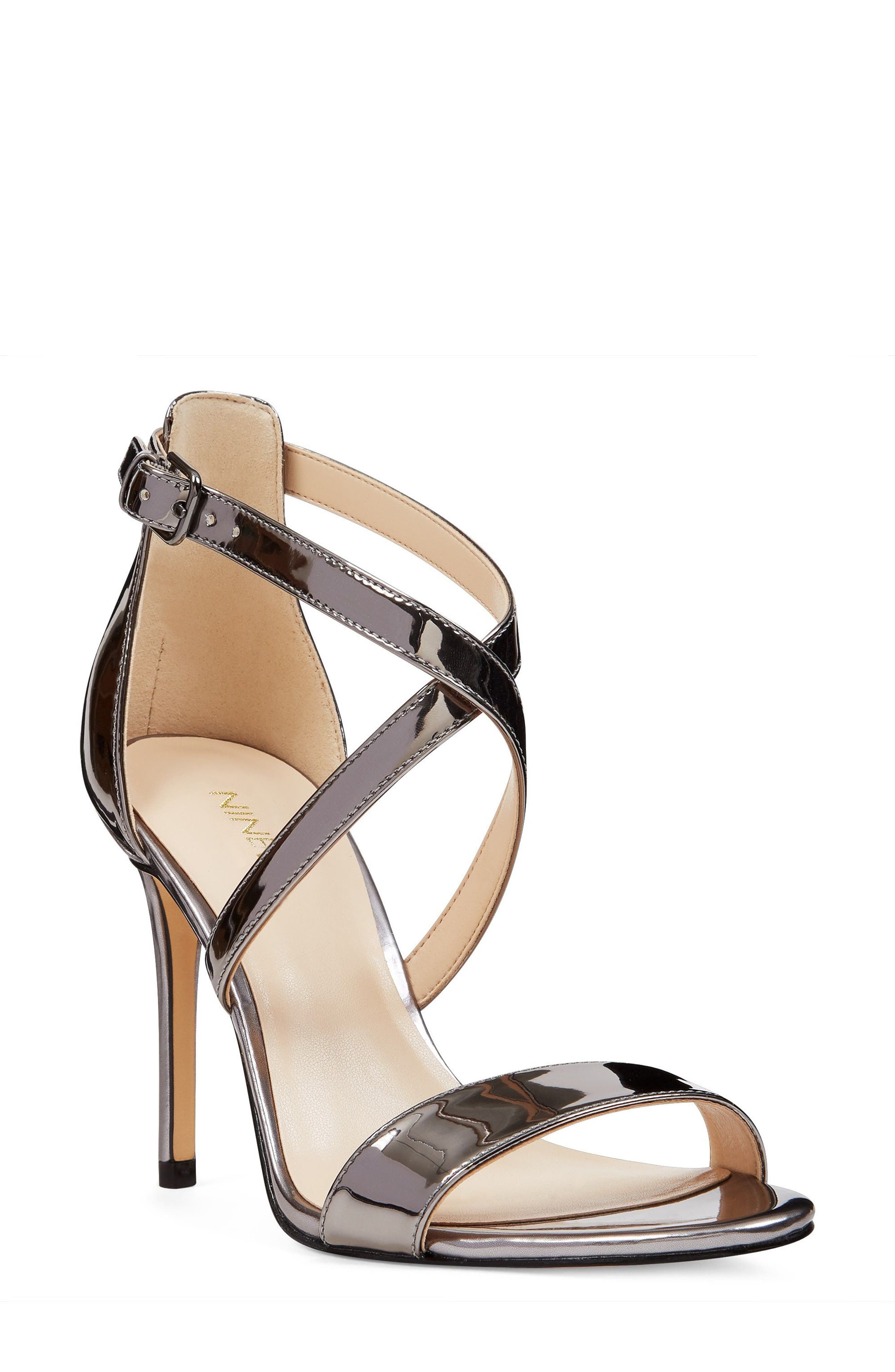 Nine West Mydebut Cross Strap Sandal (Women)