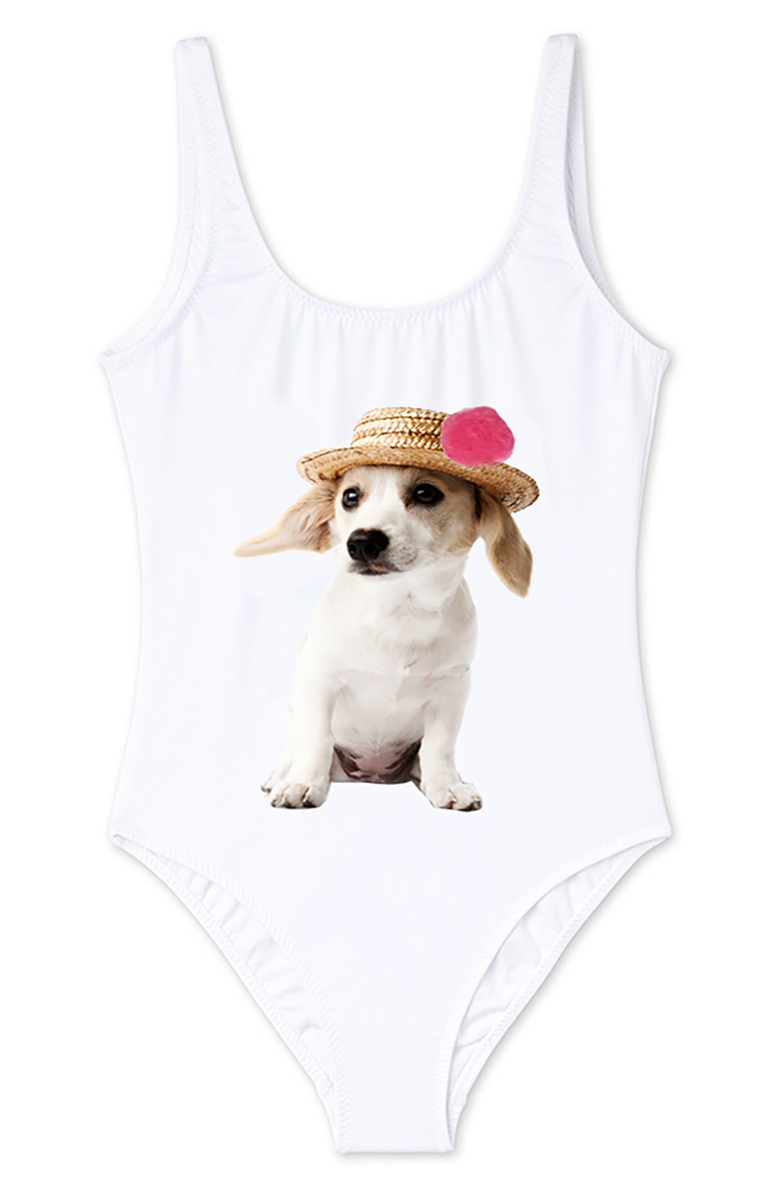 Stella Cove Puppy One-Piece Swimsuit (Toddler Girls, Little Girls & Big Girls)