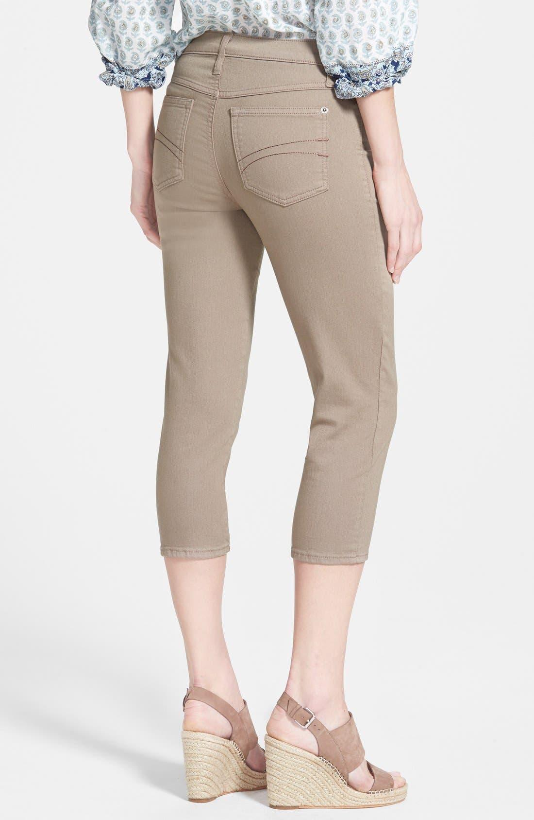 Alternate Image 2  - Second Yoga Jeans Capri Jeans