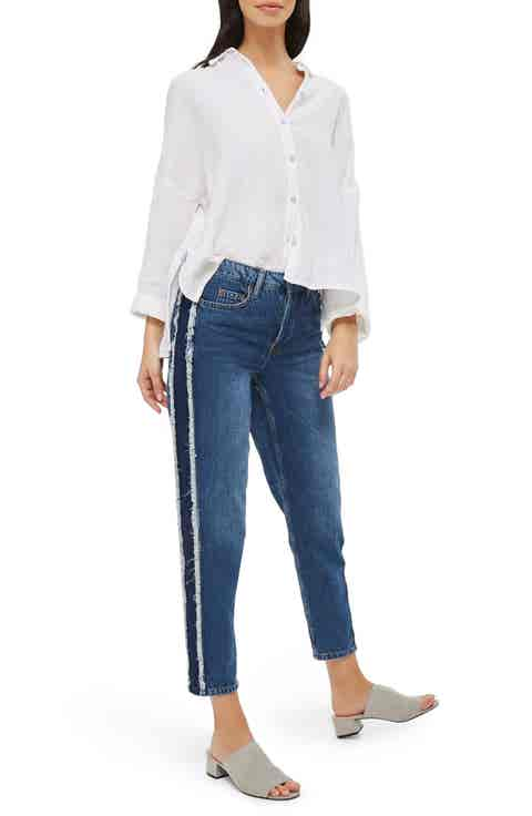 Topshop Hayden Side Panel Boyfriend Jeans