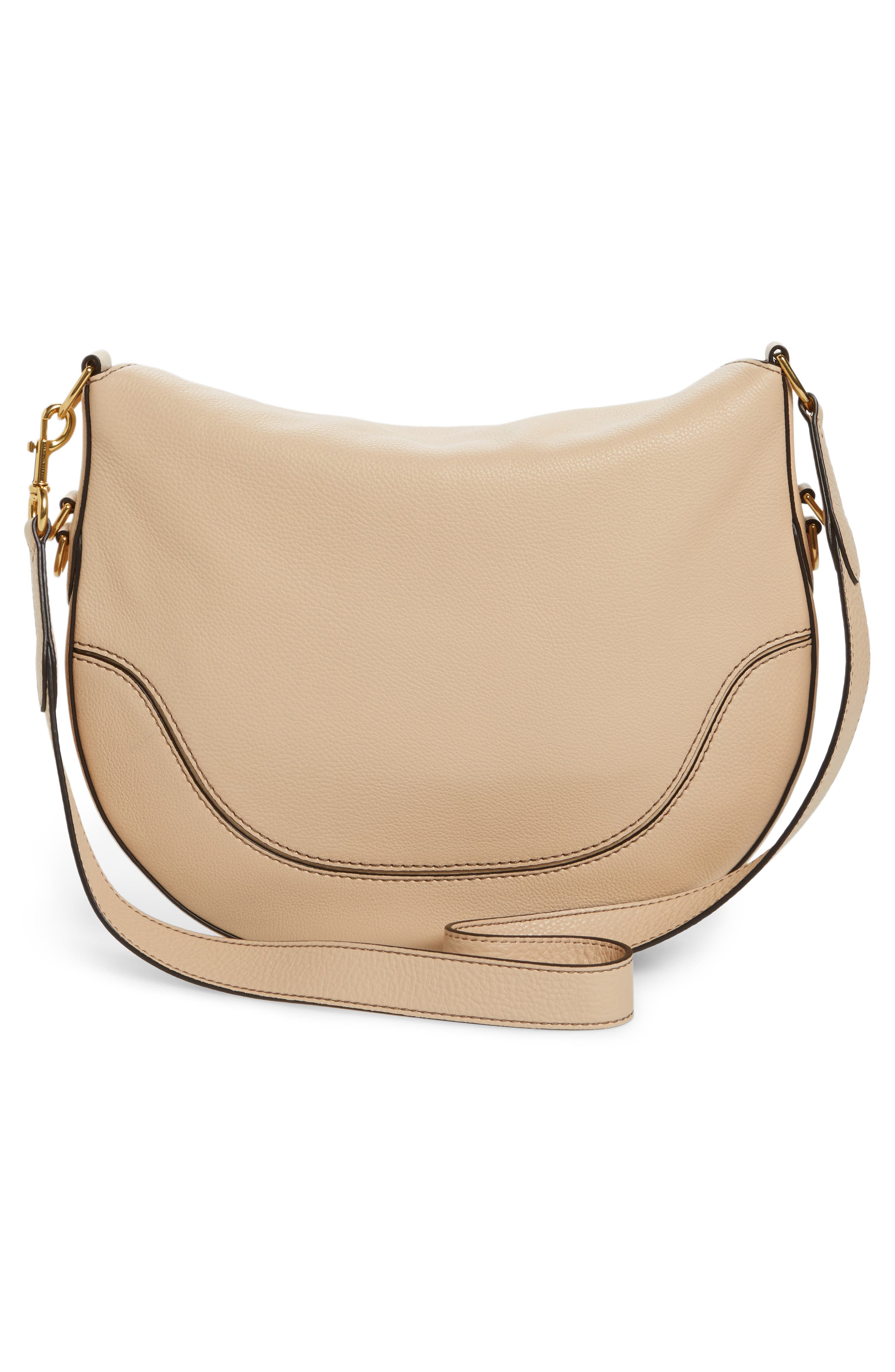 MARC JACOBS Leather Shoulder Bag in Neutrals