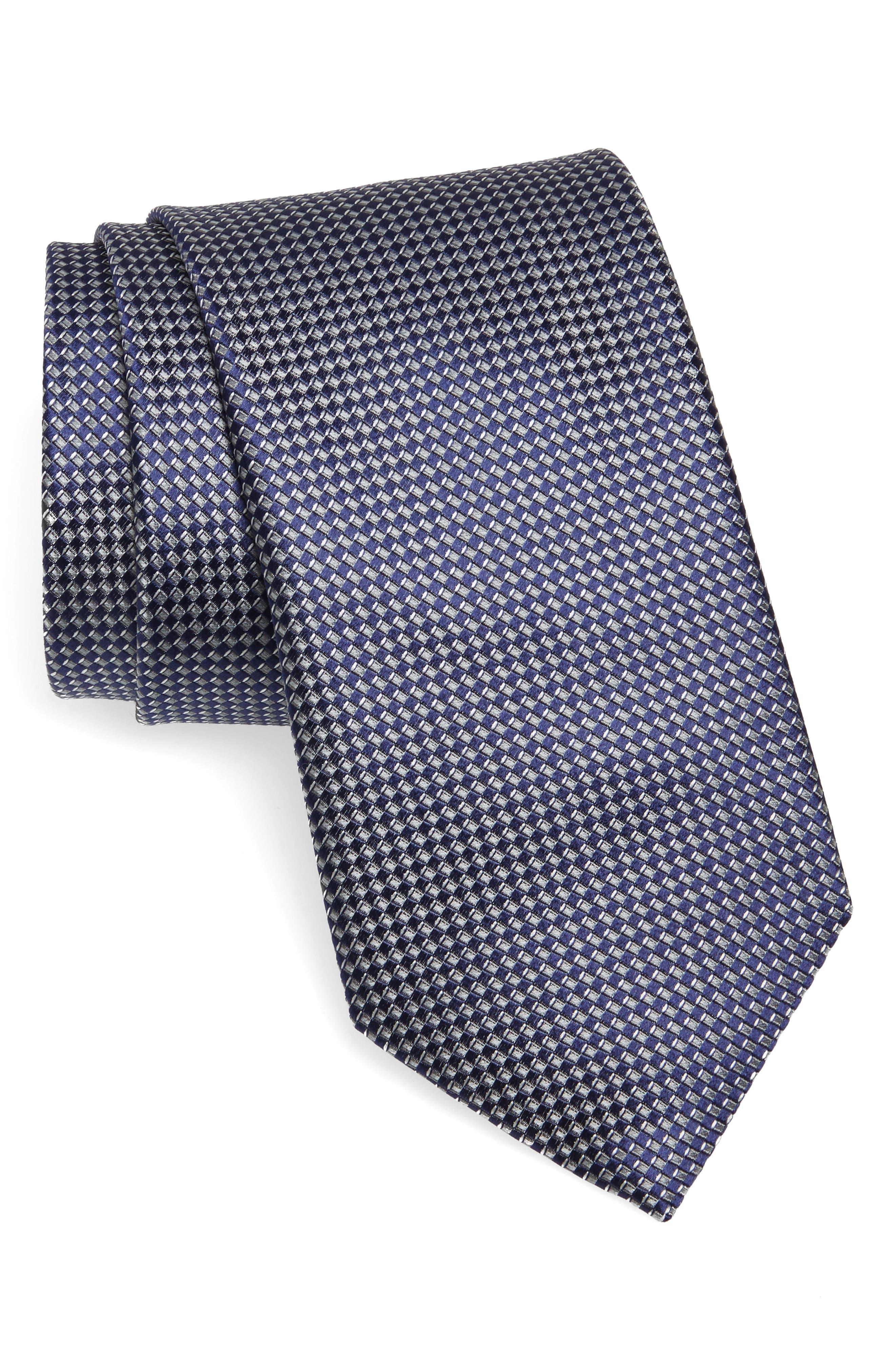 Canali Grid Silk Tie (X-Long)