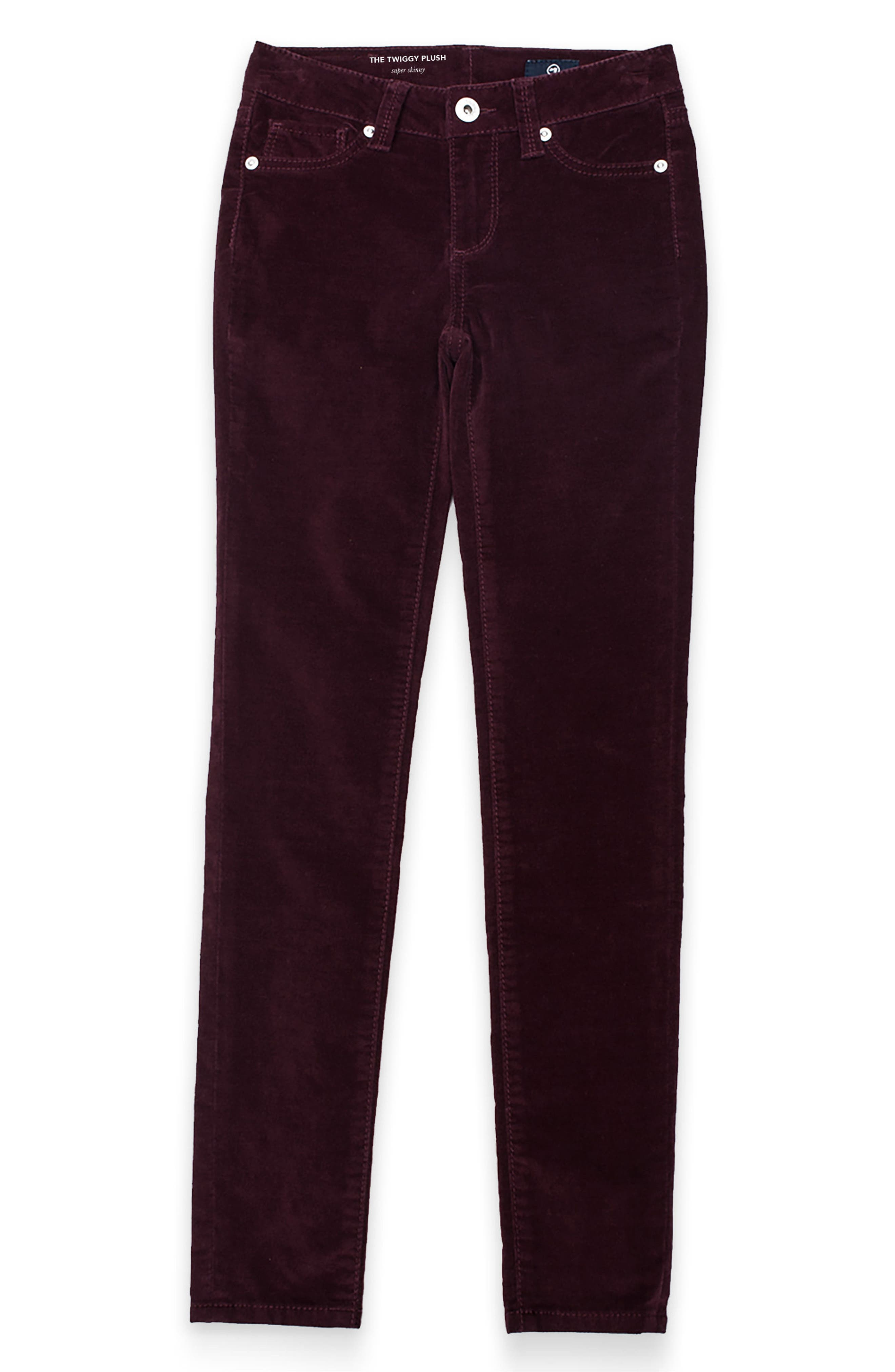 AG Twiggy Plush Skinny Velvet Pants (Big Girls)