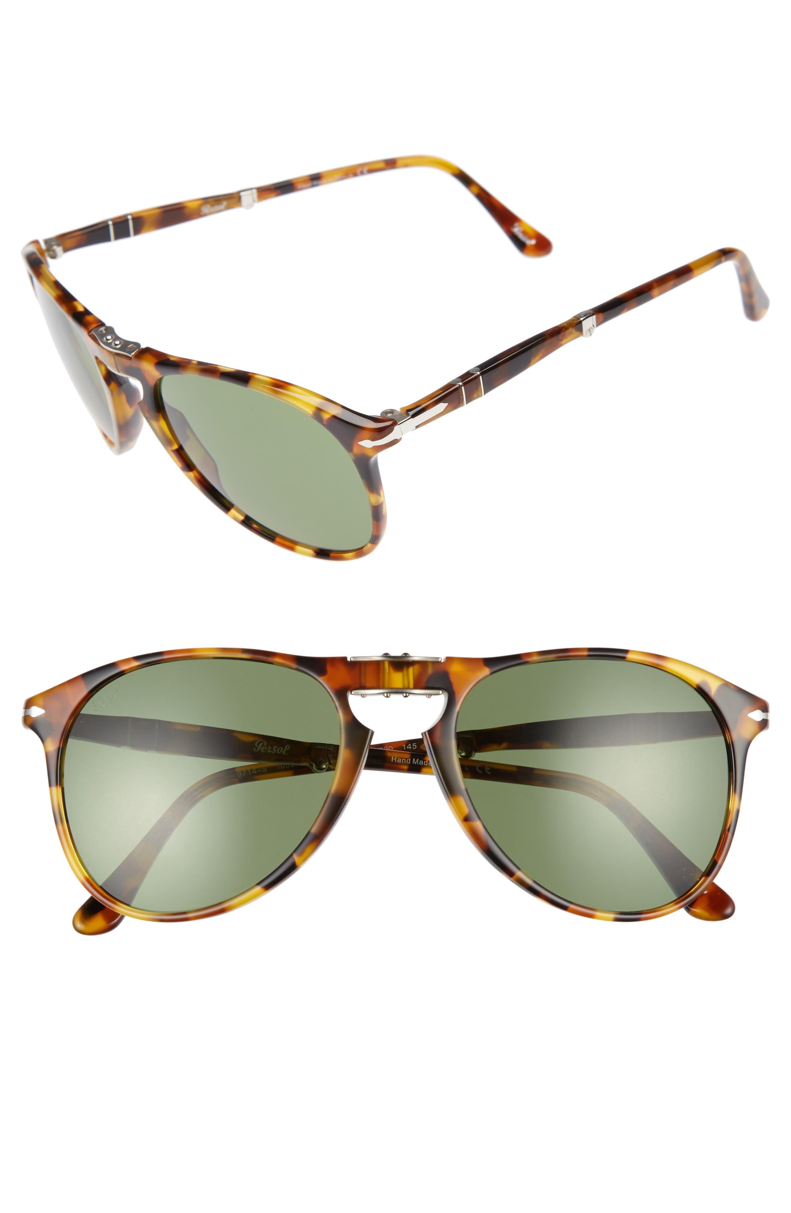 Persol Icona 55mm Polarized Folding Sunglasses