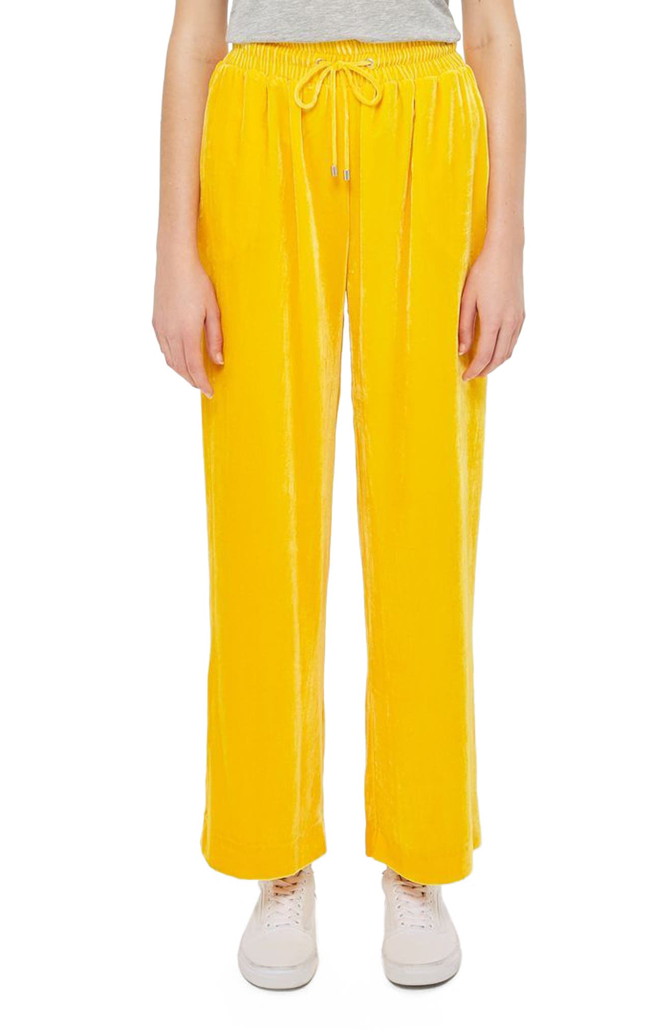 Topshop Boutique Velvet Pants