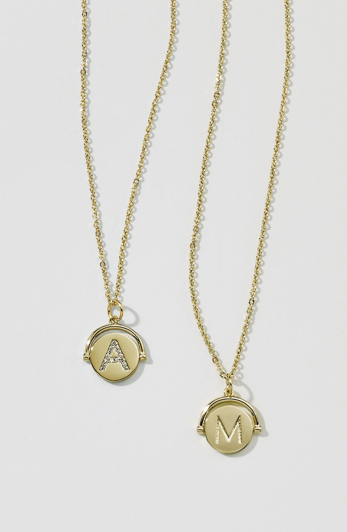Alternate Image 7  - lulu dk Love Letters Spinning Initial Necklace