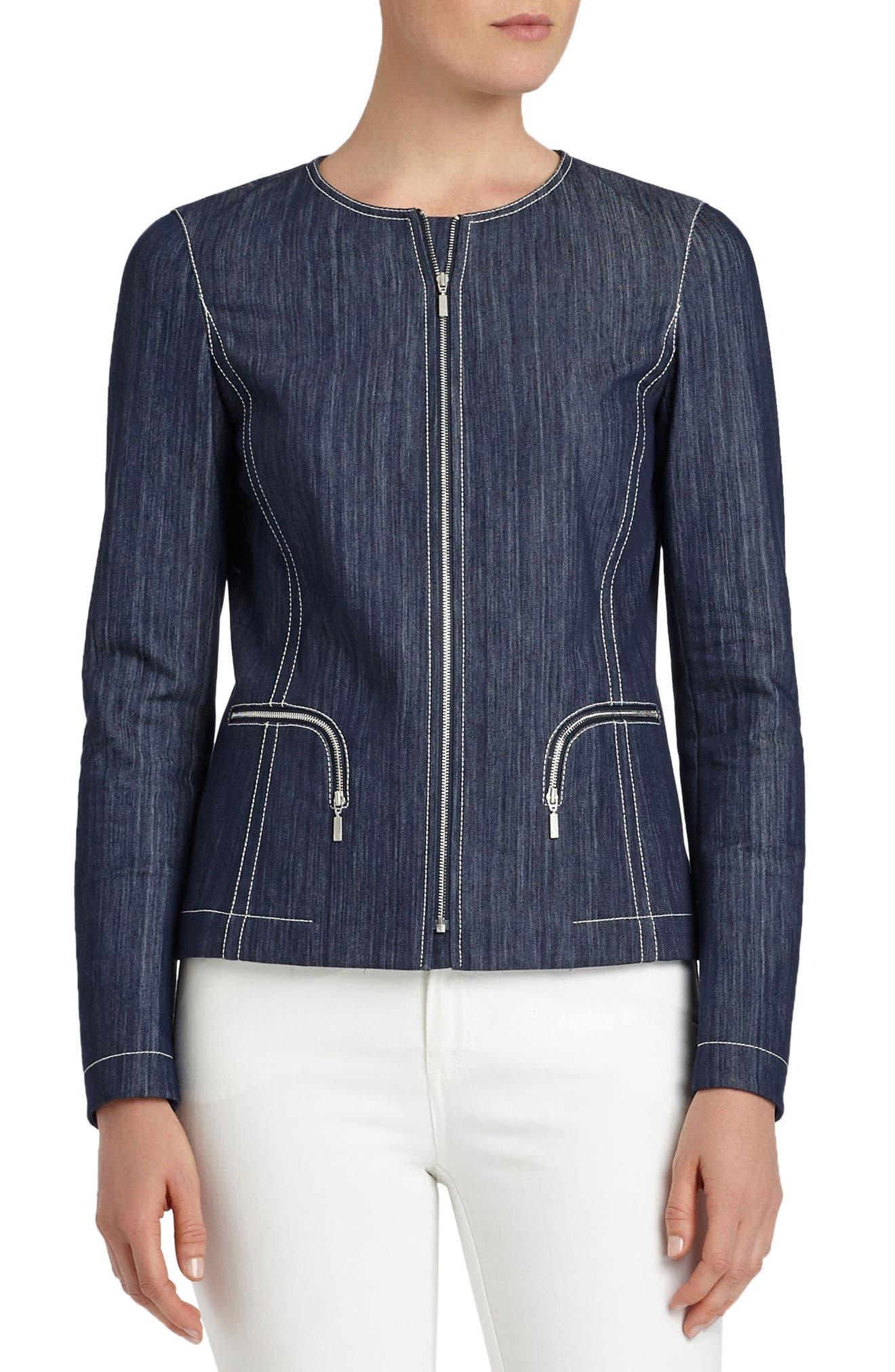 Lafayette 148 New York Malia Mariners Cloth Jacket